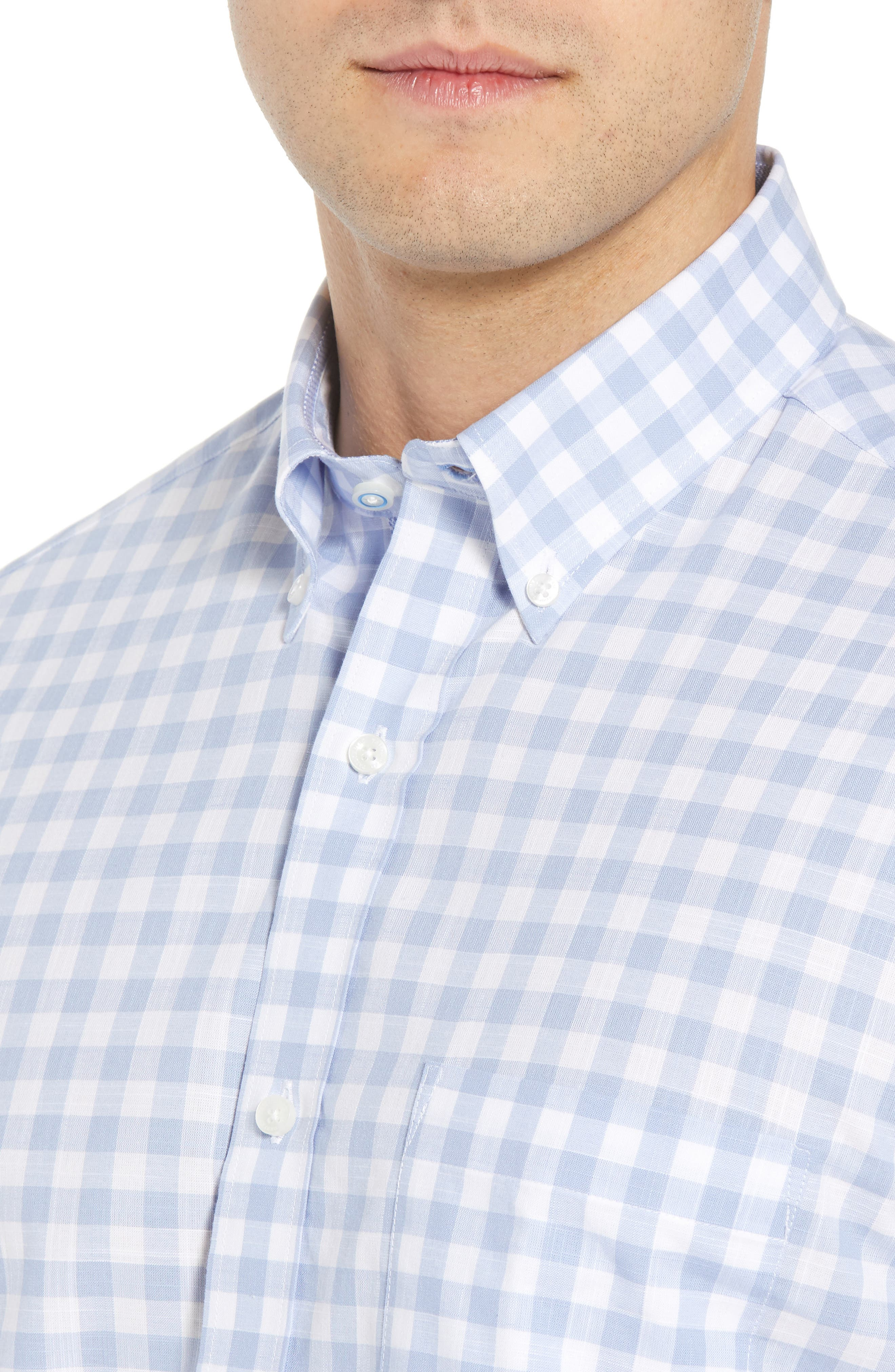 Hawes Regular Fit Check Sport Shirt,                             Alternate thumbnail 2, color,                             Light Blue