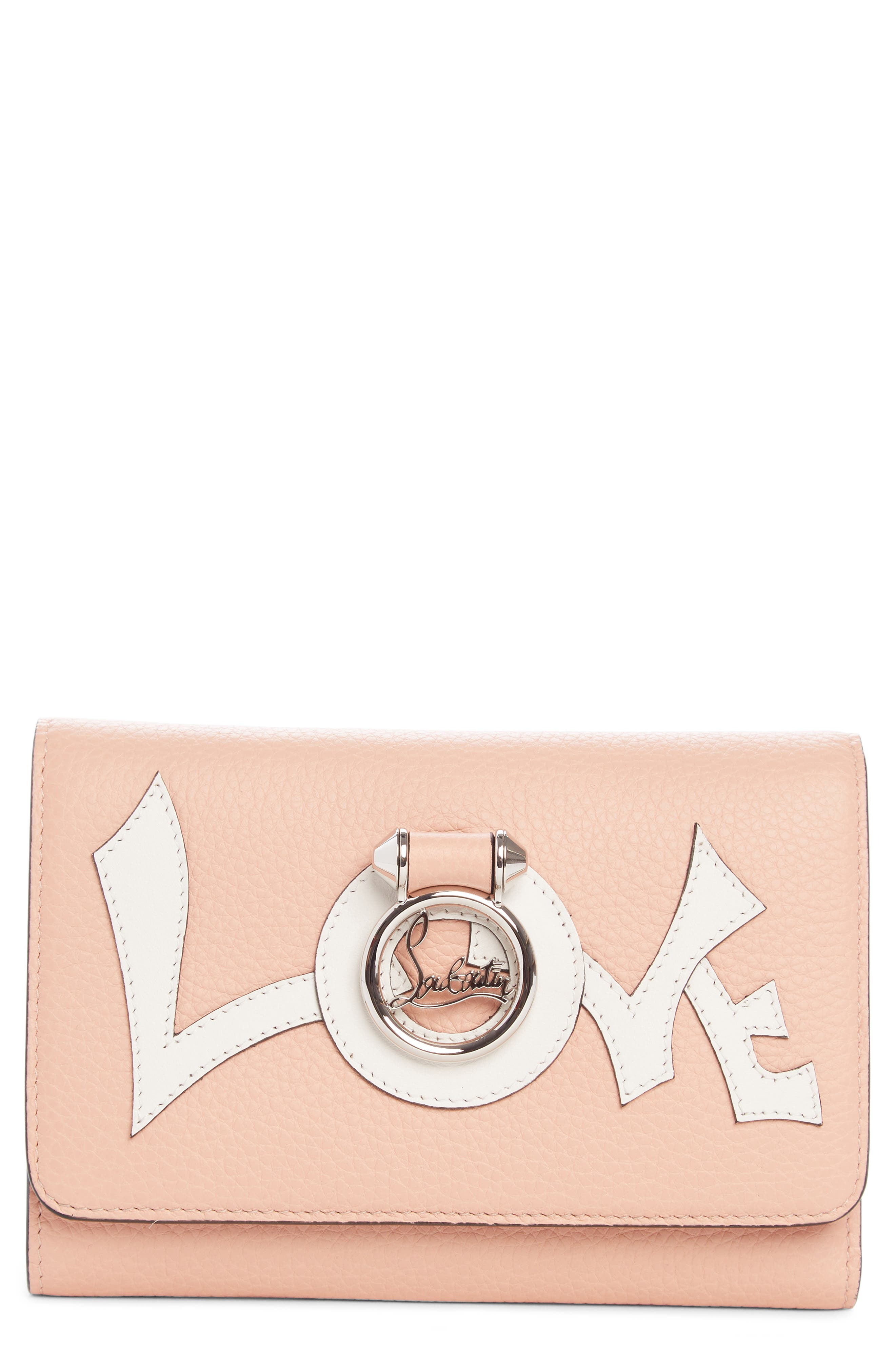 Christian Louboutin Rubylou Love Calfskin Leather Wallet