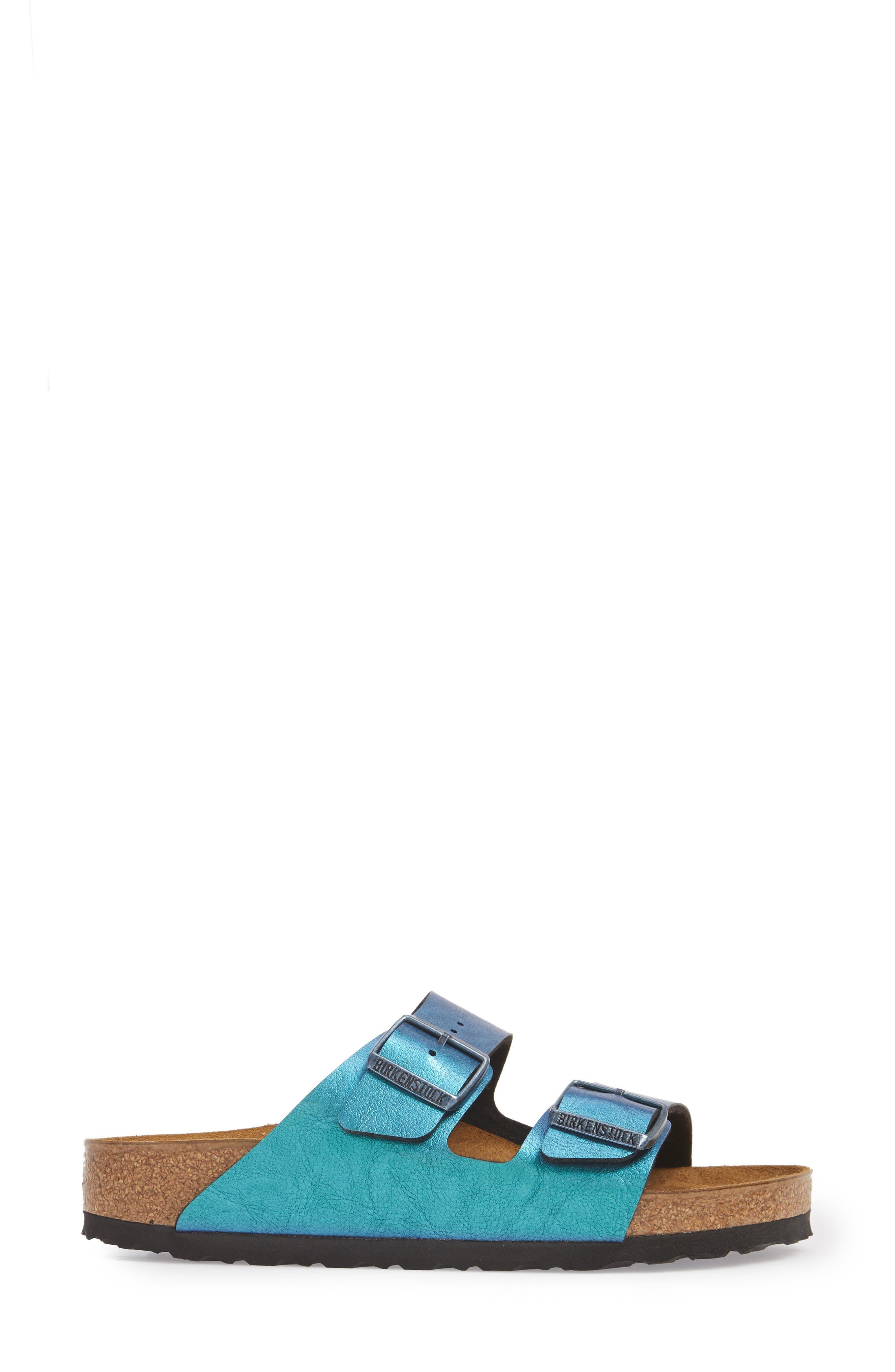 Arizona Graceful Birko-Flor<sup>™</sup> Sandal,                             Alternate thumbnail 3, color,                             Blue