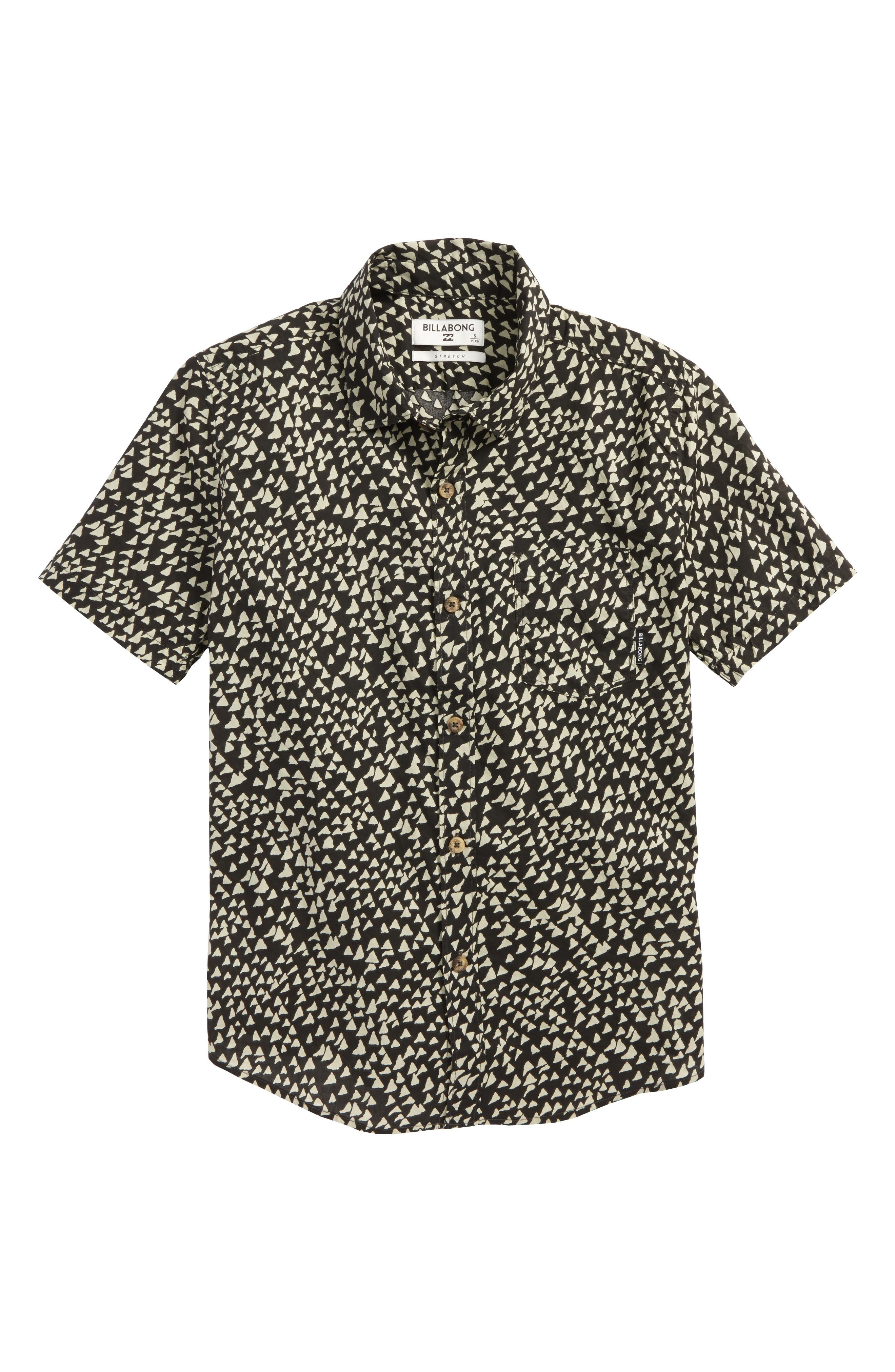 Sundays Woven Shirt,                             Main thumbnail 1, color,                             Char