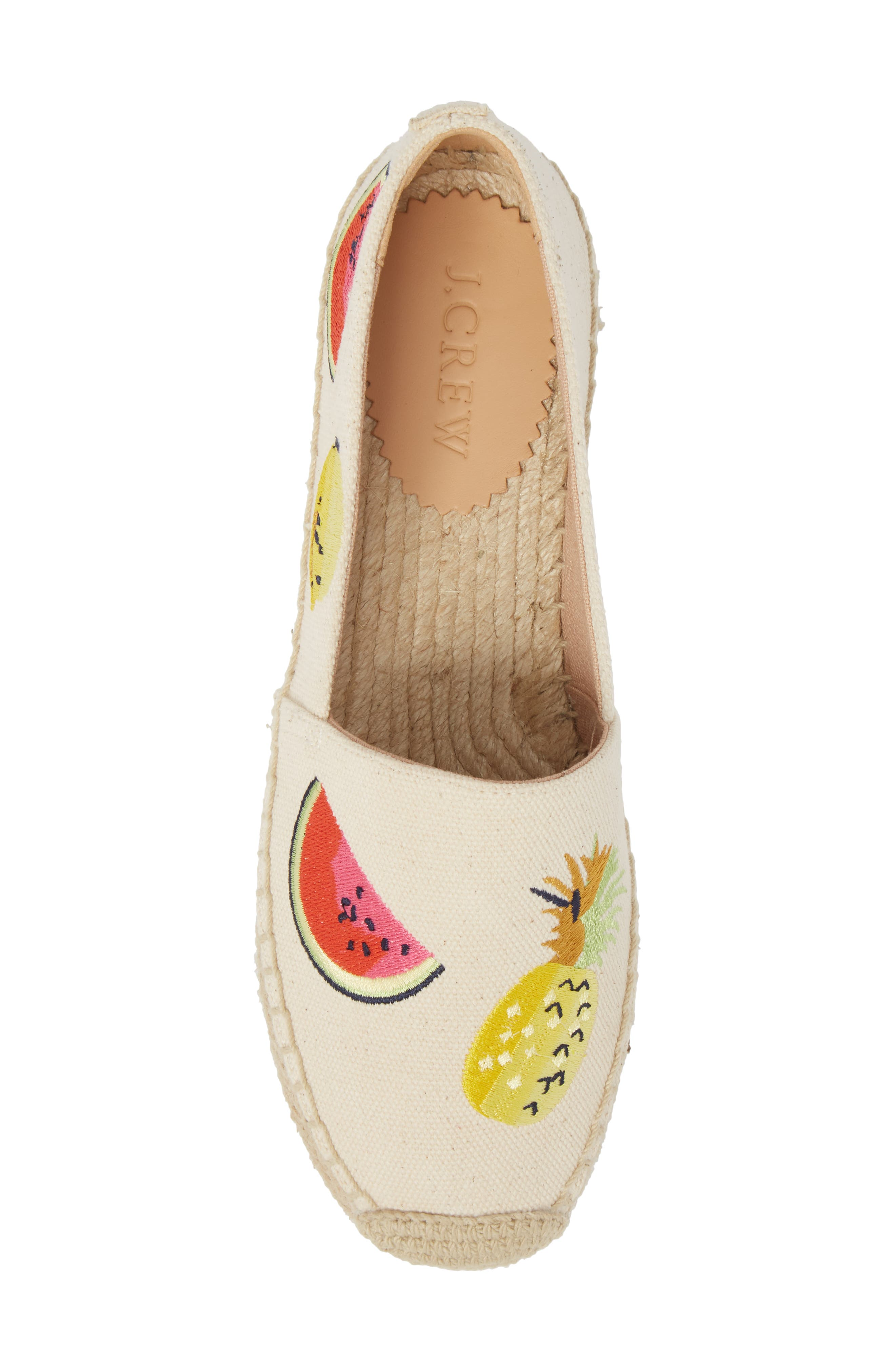 Fruit Salad Embroidered Espadrille,                             Alternate thumbnail 5, color,                             Sundried Linen