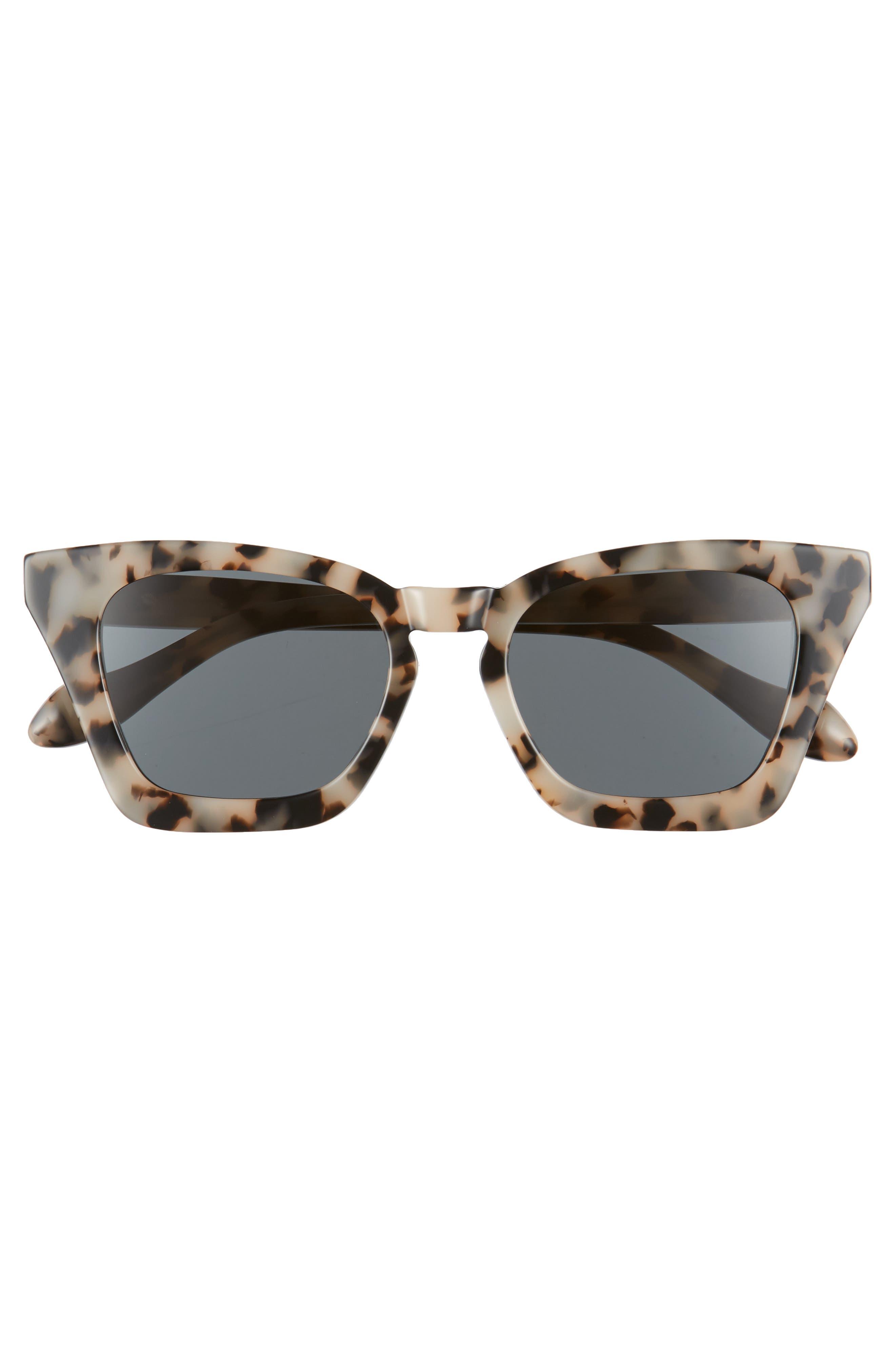 Ginza 50mm Cat Eye Sunglasses,                             Alternate thumbnail 3, color,                             Milk Tortoise/ Black Solid