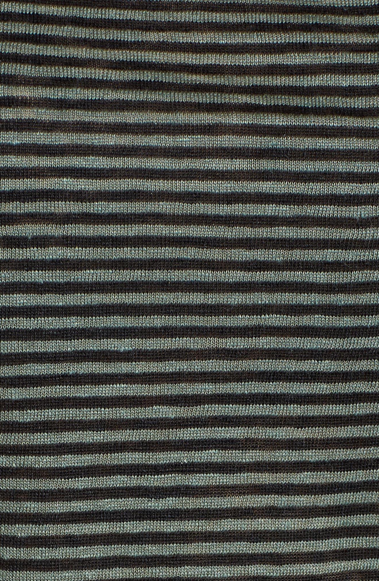 Stripe Organic Linen Tank,                             Alternate thumbnail 5, color,                             Nori