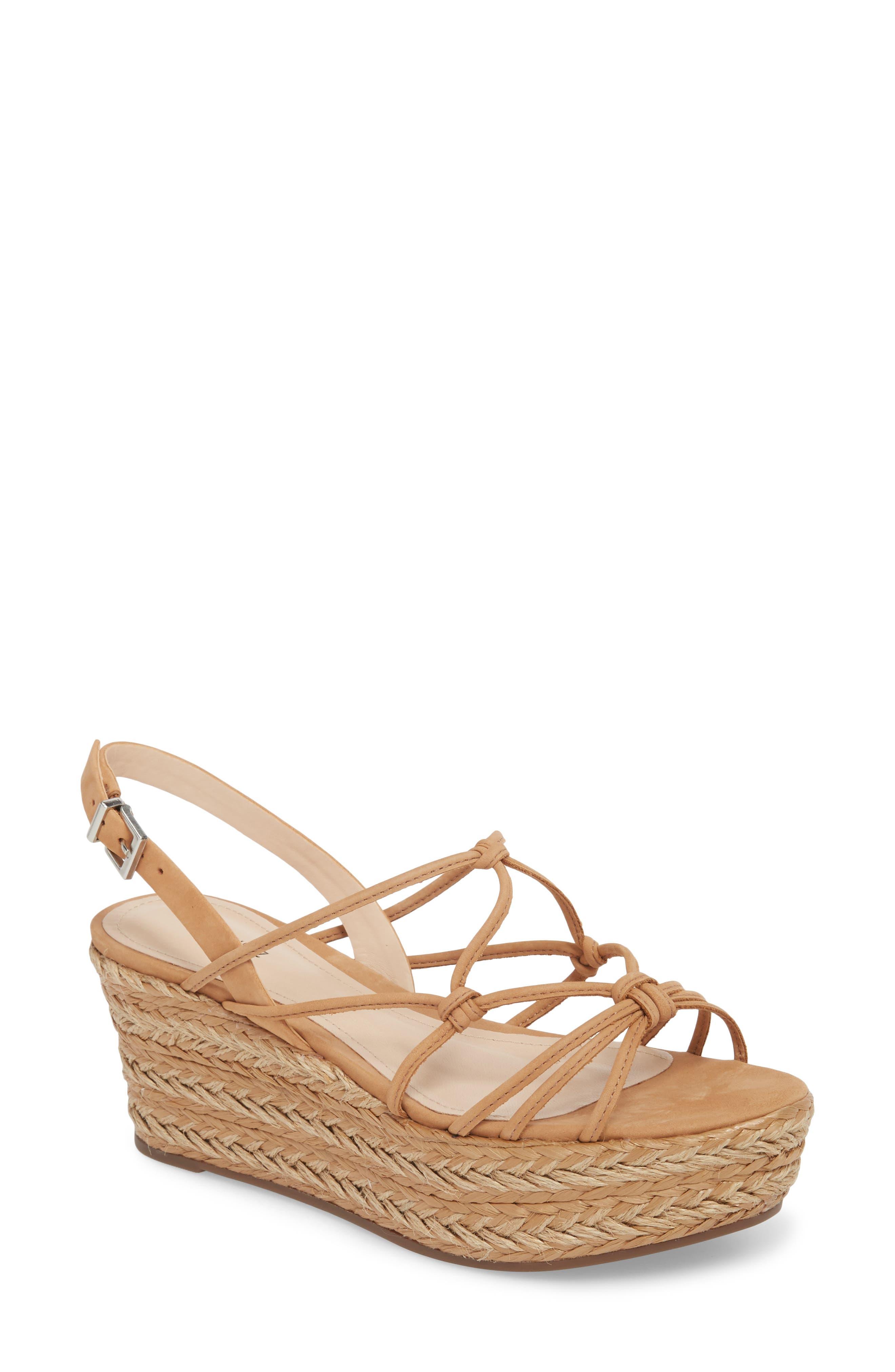 Latussa Platform Espadrille Sandal,                         Main,                         color, Desert Leather