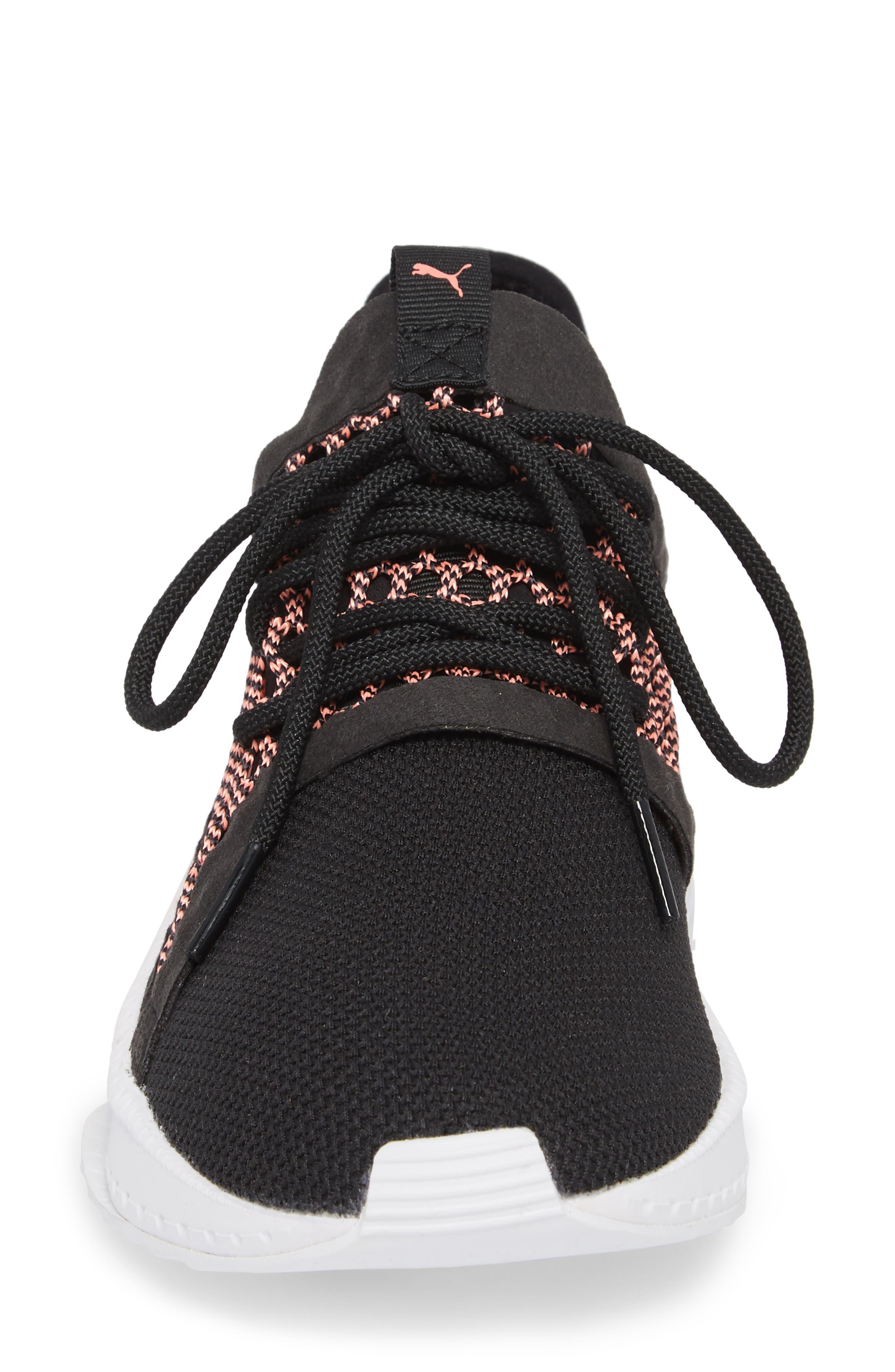 Tsugi Netfit evoKNIT Training Shoe,                             Alternate thumbnail 4, color,                             Black/ Shell Pink/ White