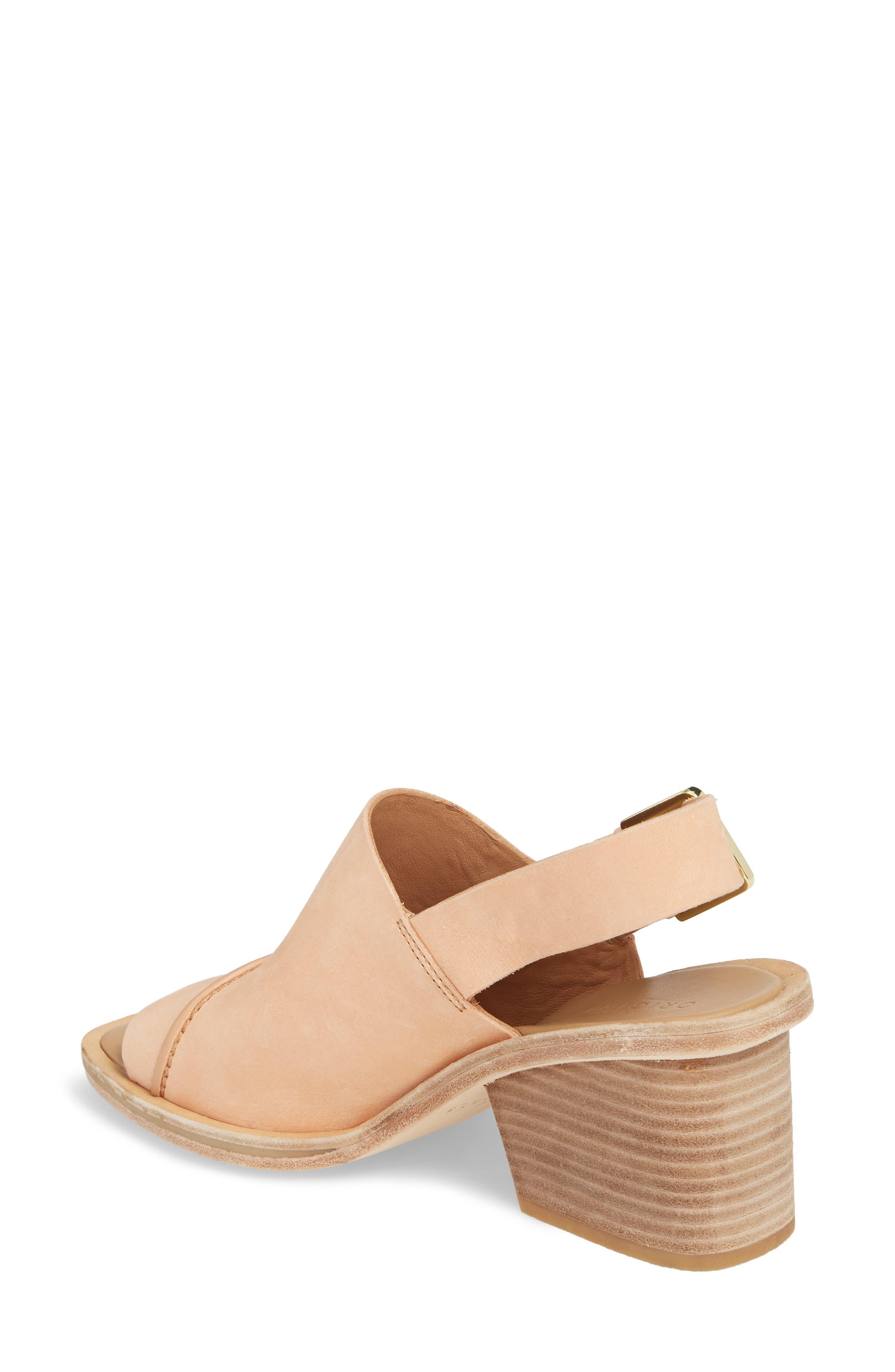 Clarks Bermudan Block Heel Sandal,                             Alternate thumbnail 2, color,                             Sandstone Nubuck Leather