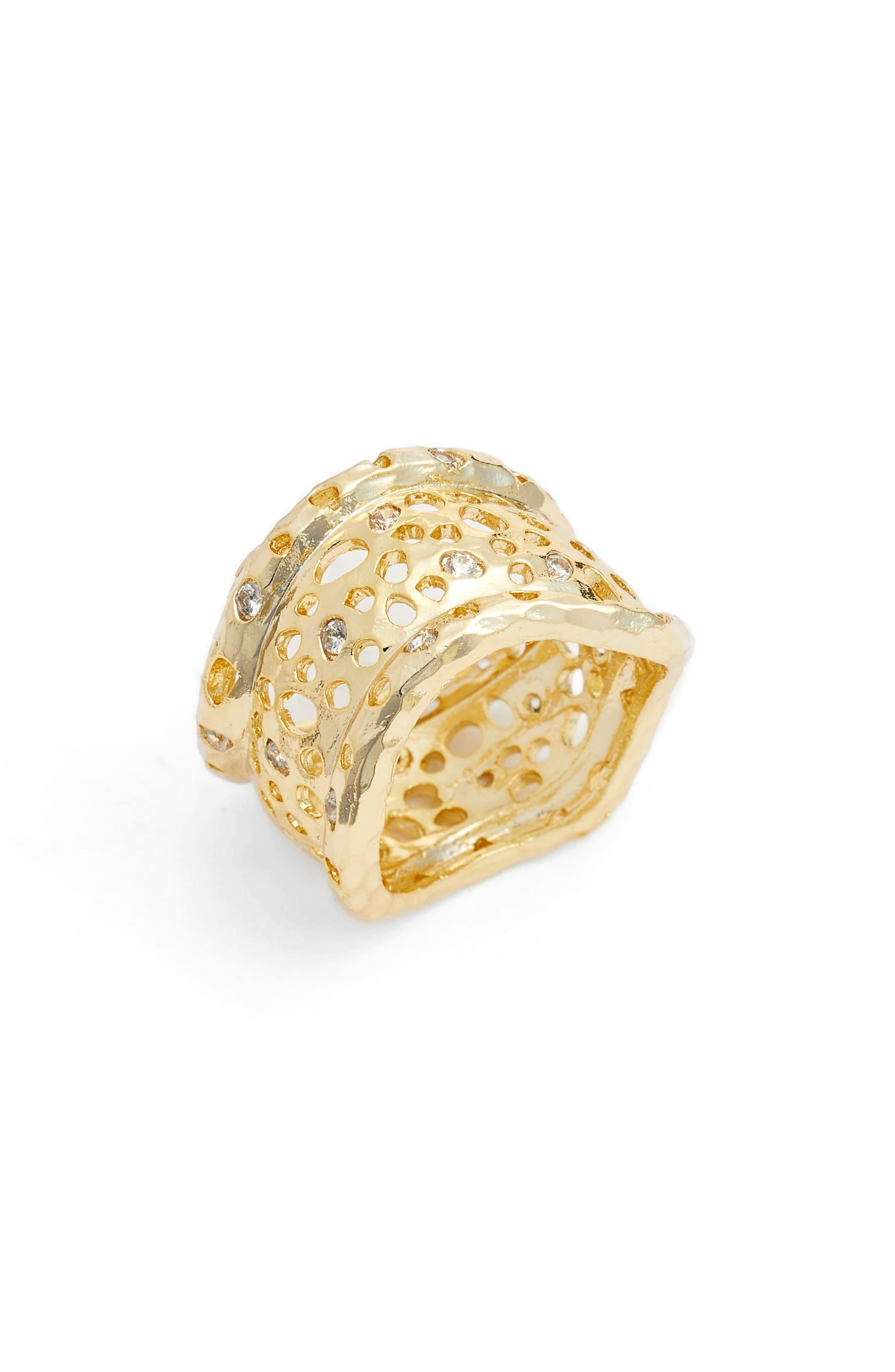 Melinda Maria Honey Cigar Ring