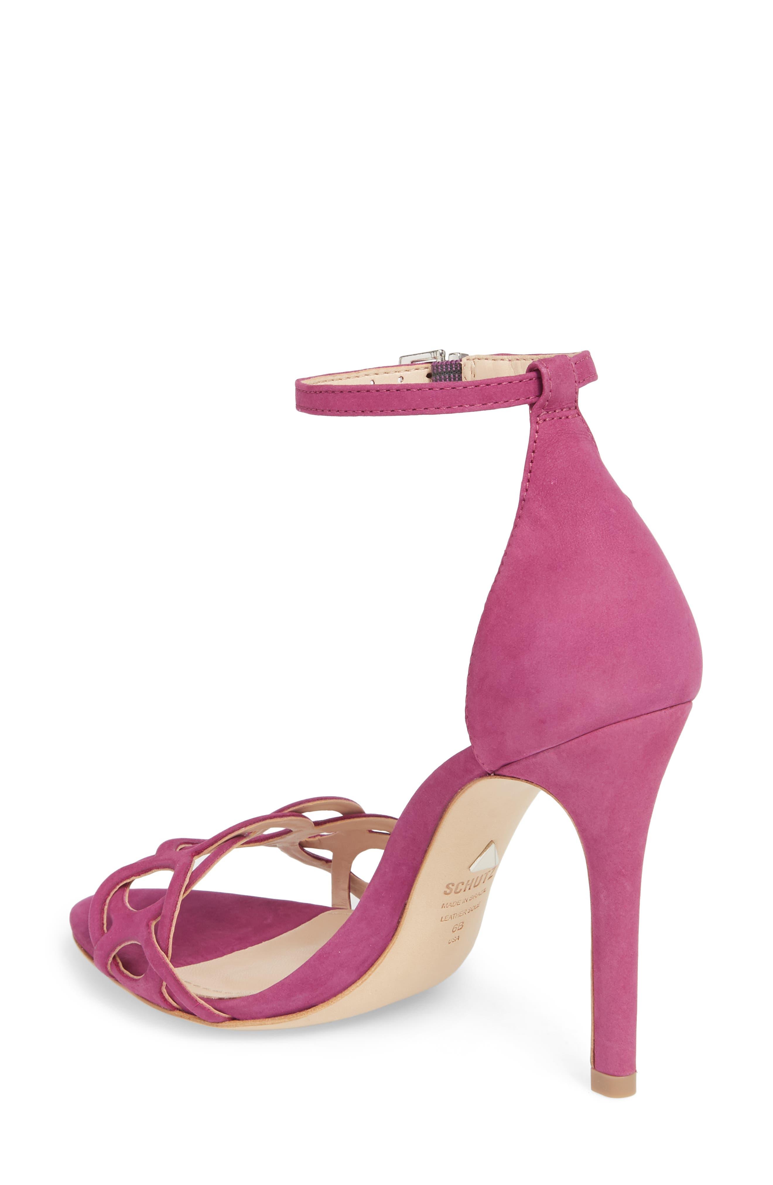 Sthefany Ankle Strap Sandal,                             Alternate thumbnail 2, color,                             Grape Leather