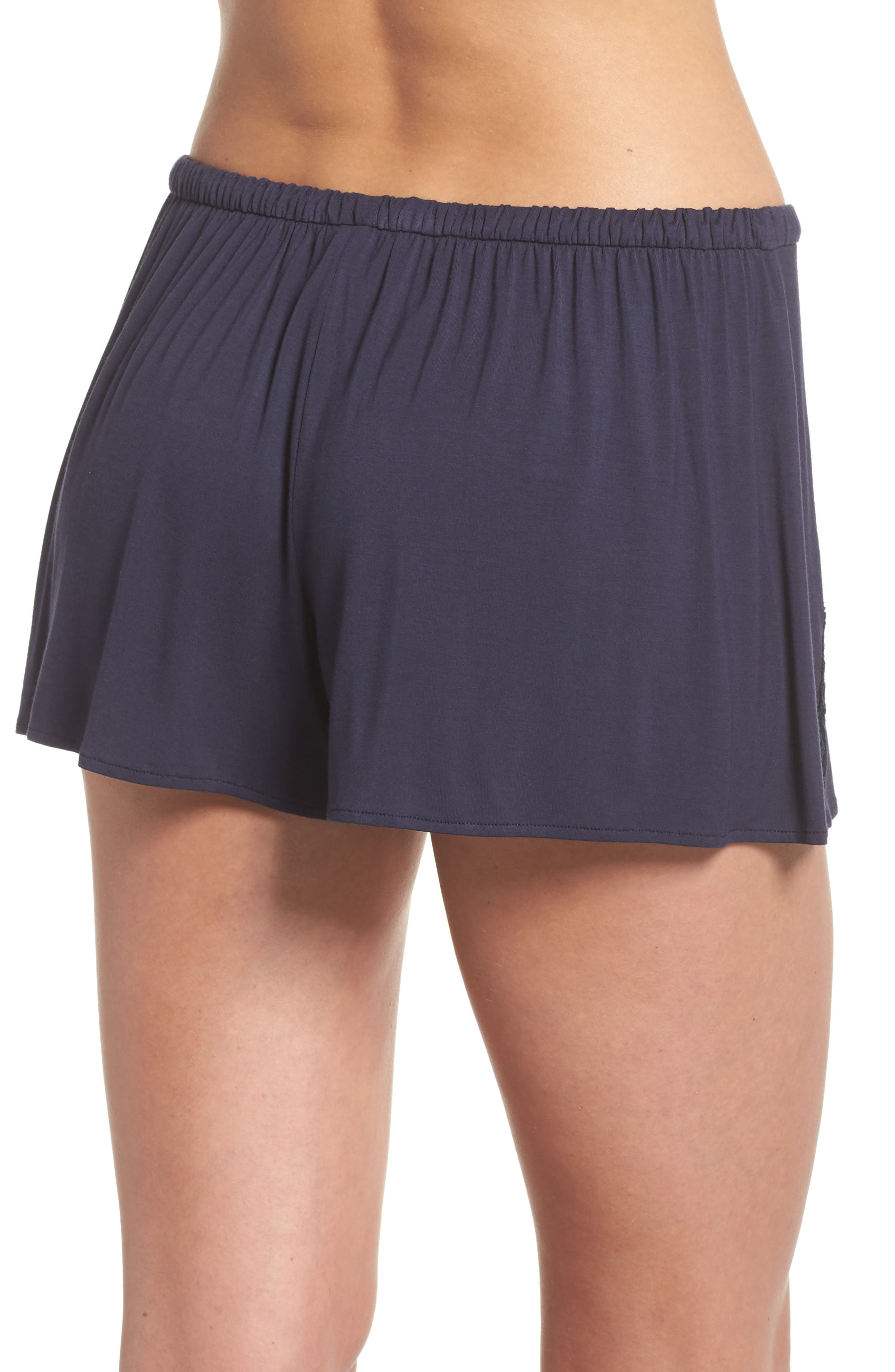 Feathers Essential Pajama Shorts,                             Alternate thumbnail 2, color,                             Night Blue