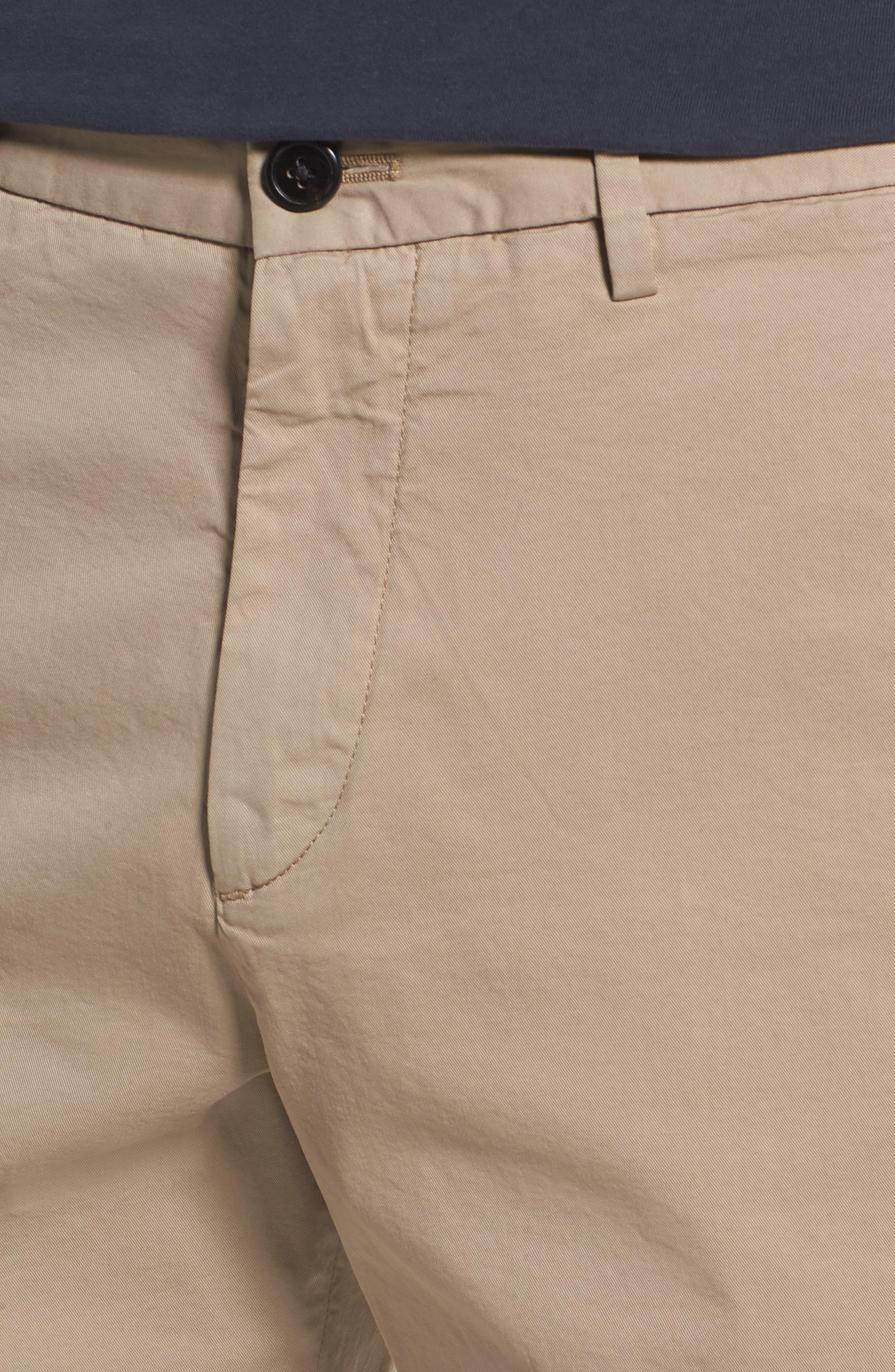 Zaine Stretch Cotton Shorts,                             Alternate thumbnail 4, color,                             Bark