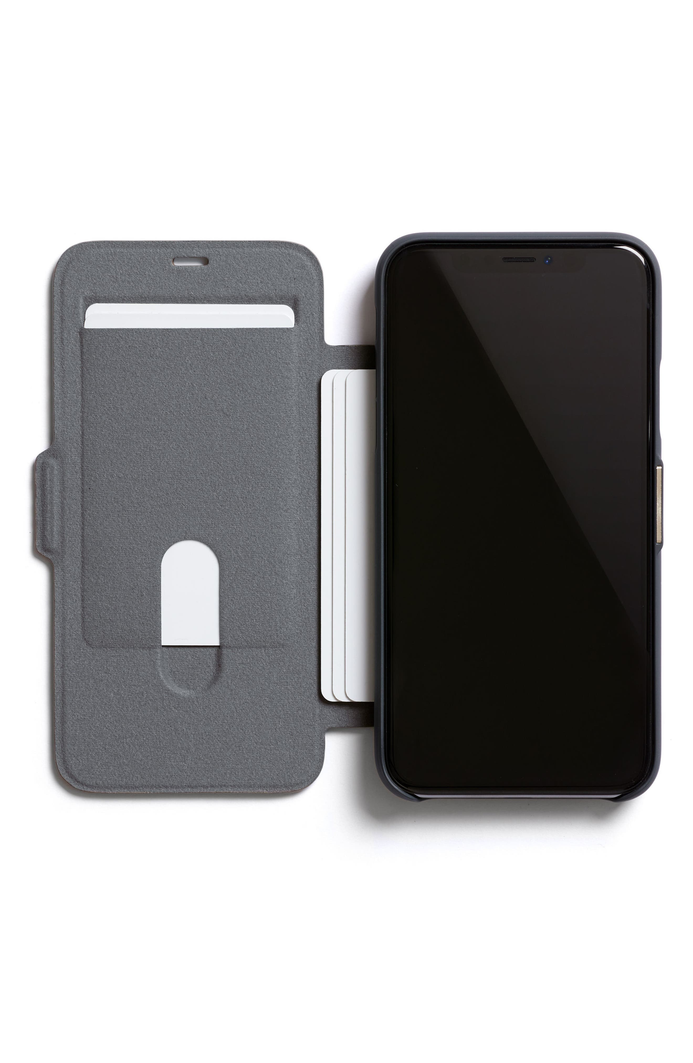 iPhone X Phone Wallet,                             Alternate thumbnail 3, color,                             Black