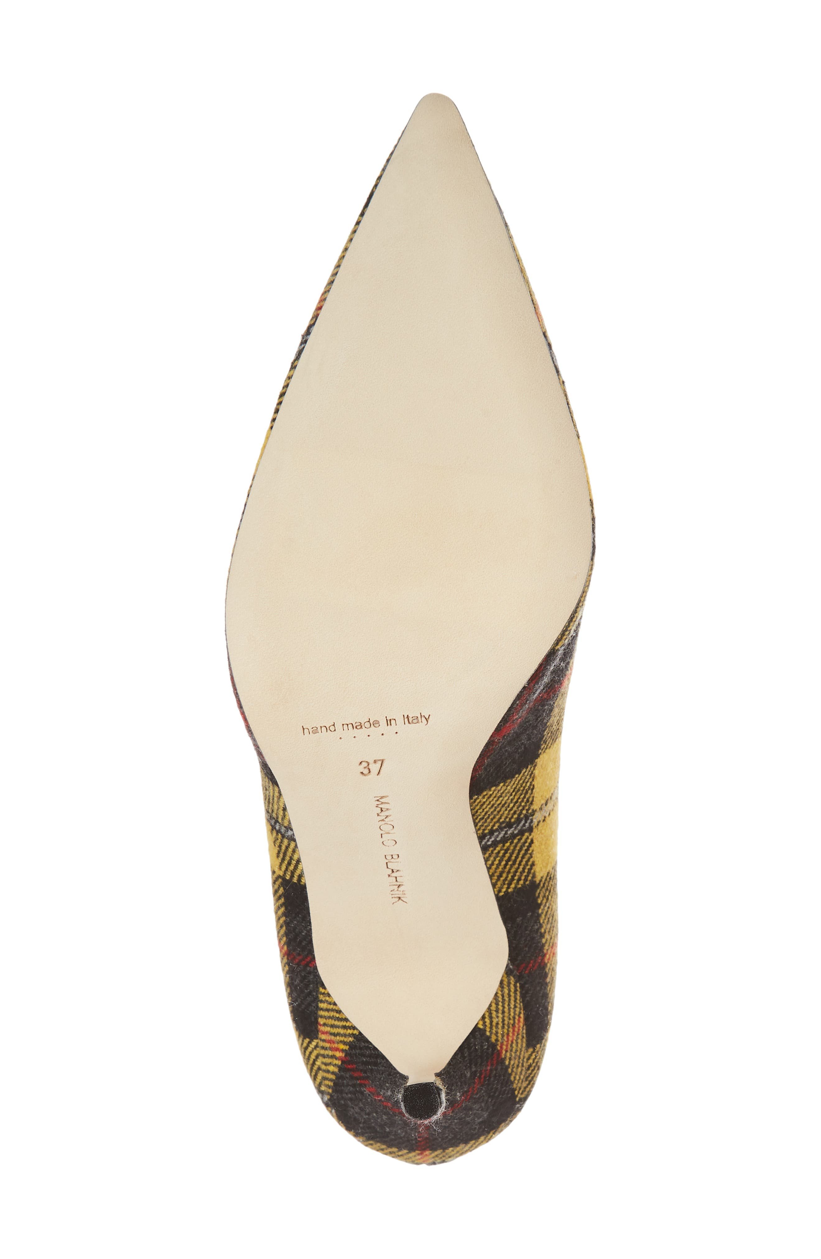 Pointy Toe Pump,                             Alternate thumbnail 6, color,                             Yellow Plaid