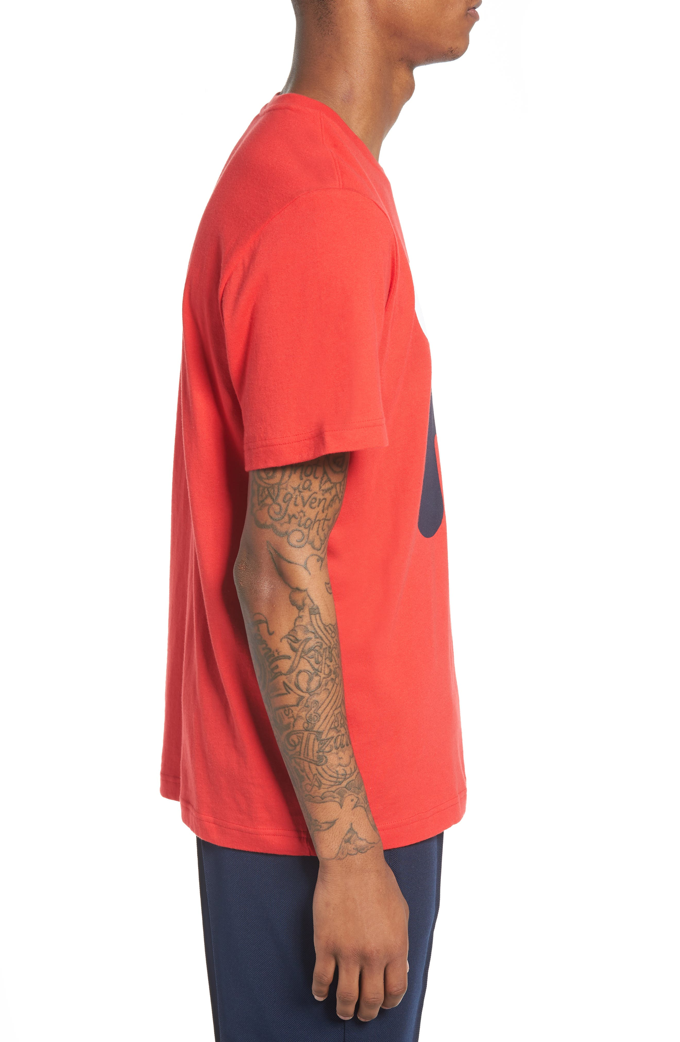 Floating F T-Shirt,                             Alternate thumbnail 3, color,                             Chinese Red