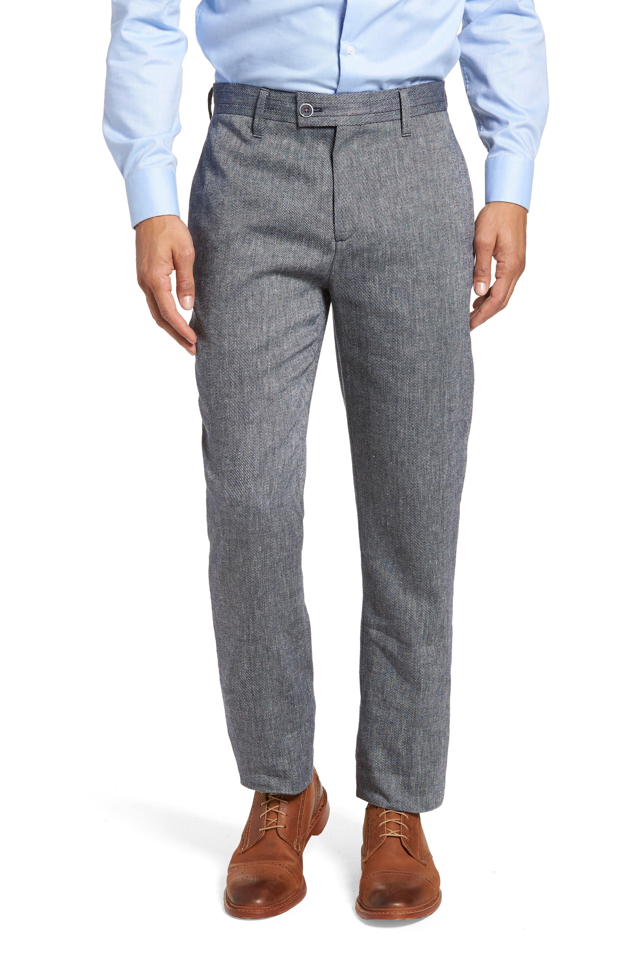 Clifrot Trim Fit Trousers,                             Main thumbnail 1, color,                             Blue