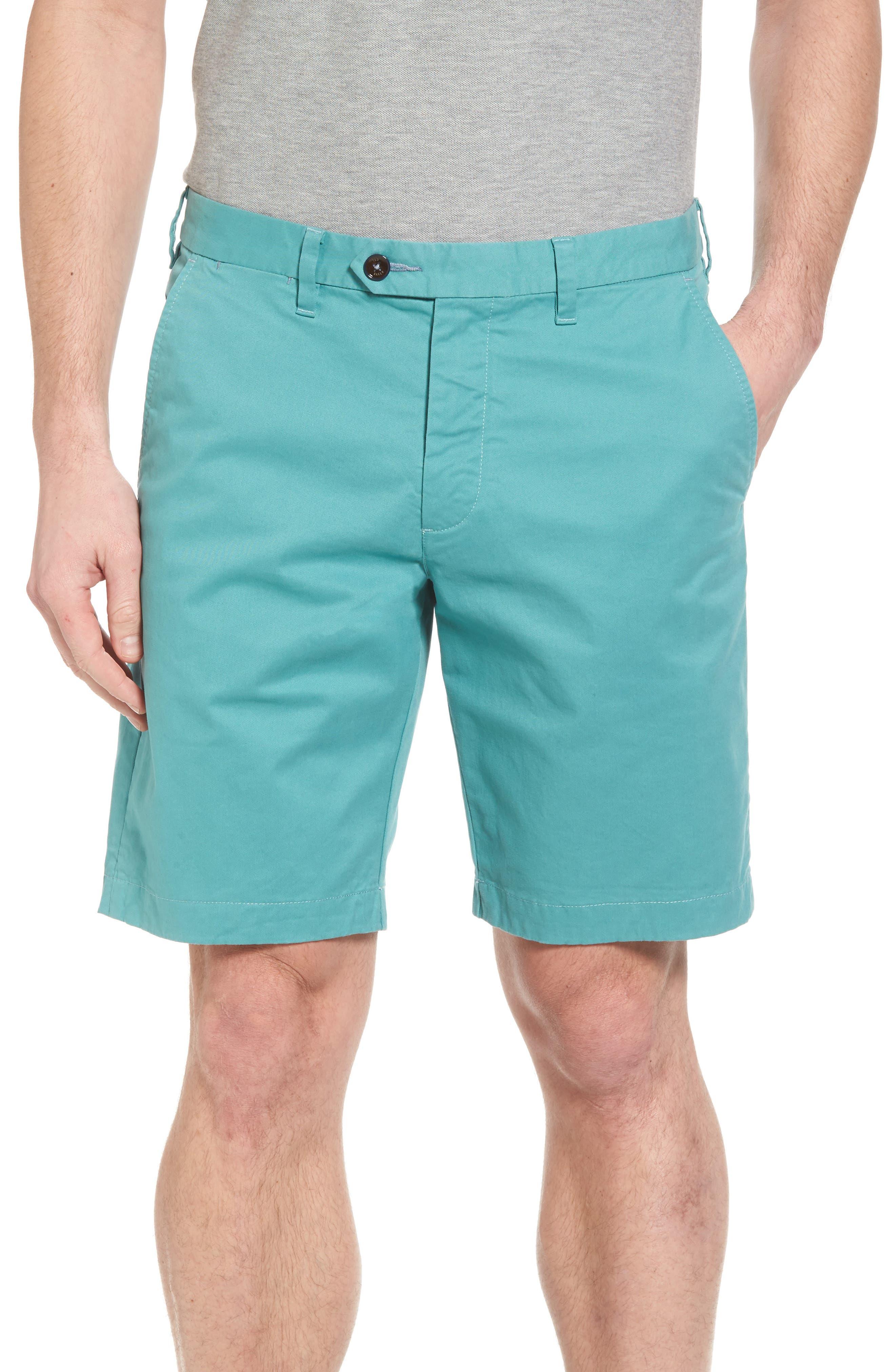 Proshtt Stretch Cotton Shorts,                             Main thumbnail 1, color,                             Pale Green
