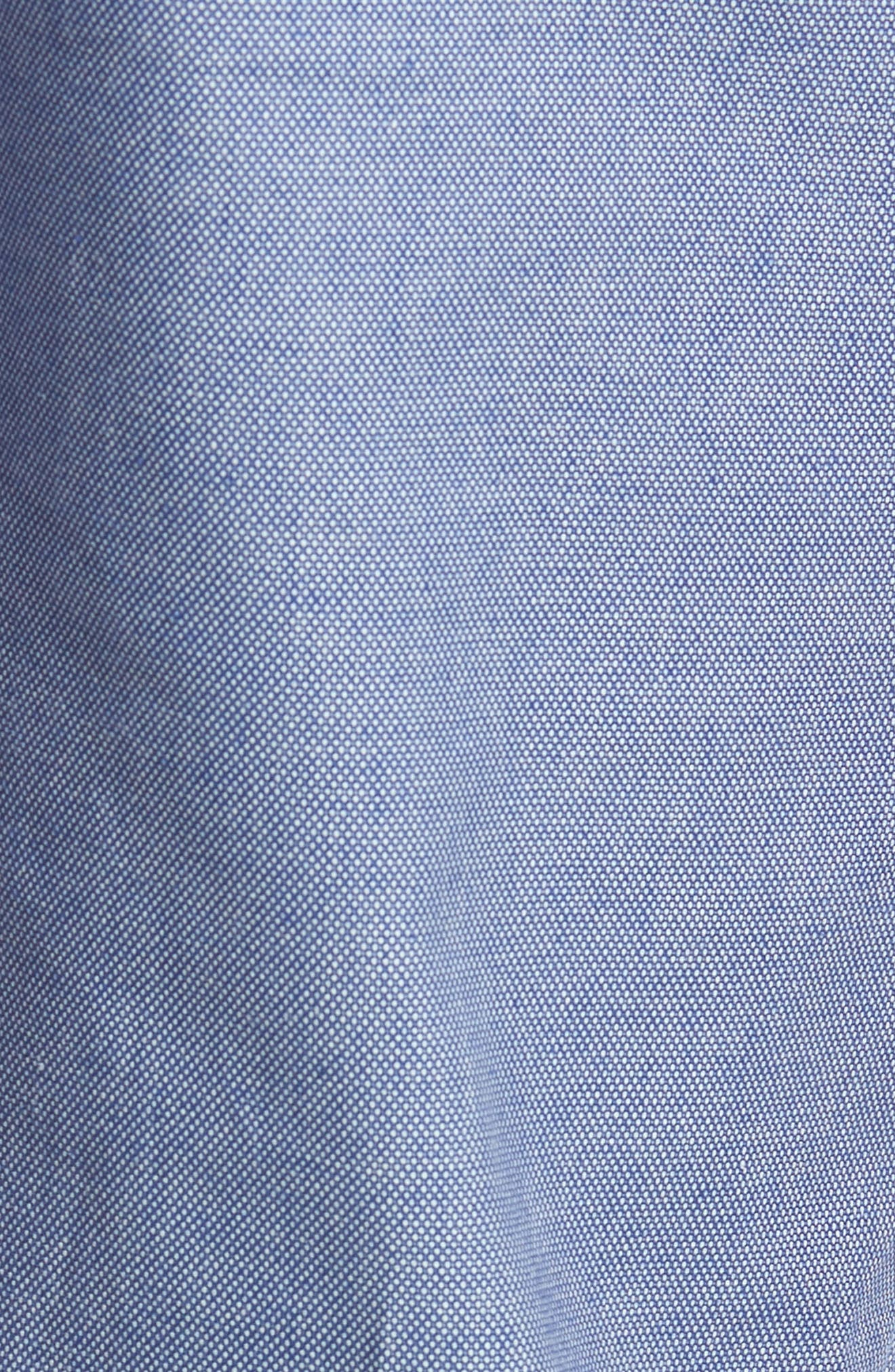 Holldet Flat Front Stretch Solid Cotton Pants,                             Alternate thumbnail 4, color,                             Light Blue
