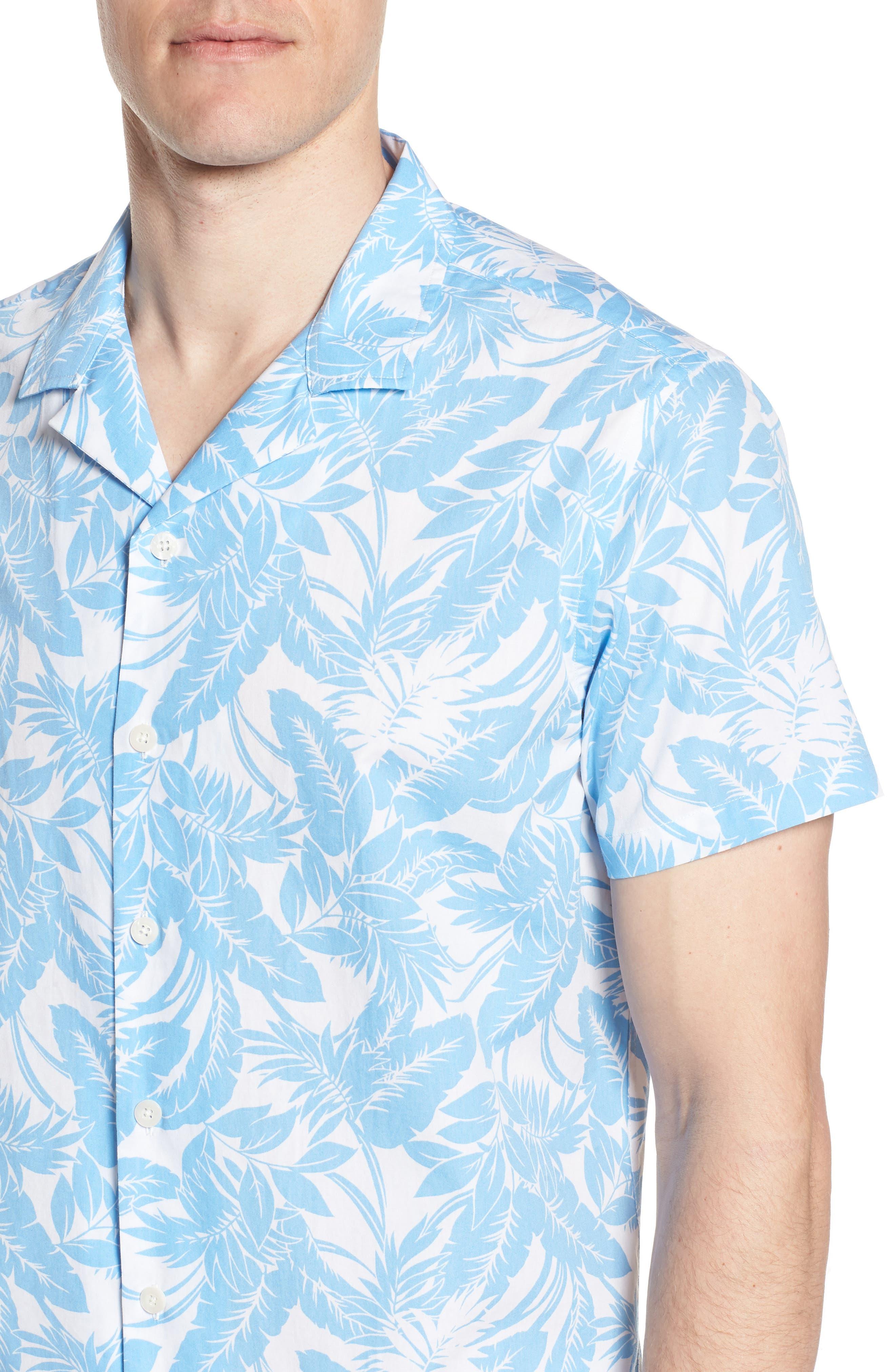Camp Ventu Regular Fit Short Sleeve Sport Shirt,                             Alternate thumbnail 2, color,                             Sky