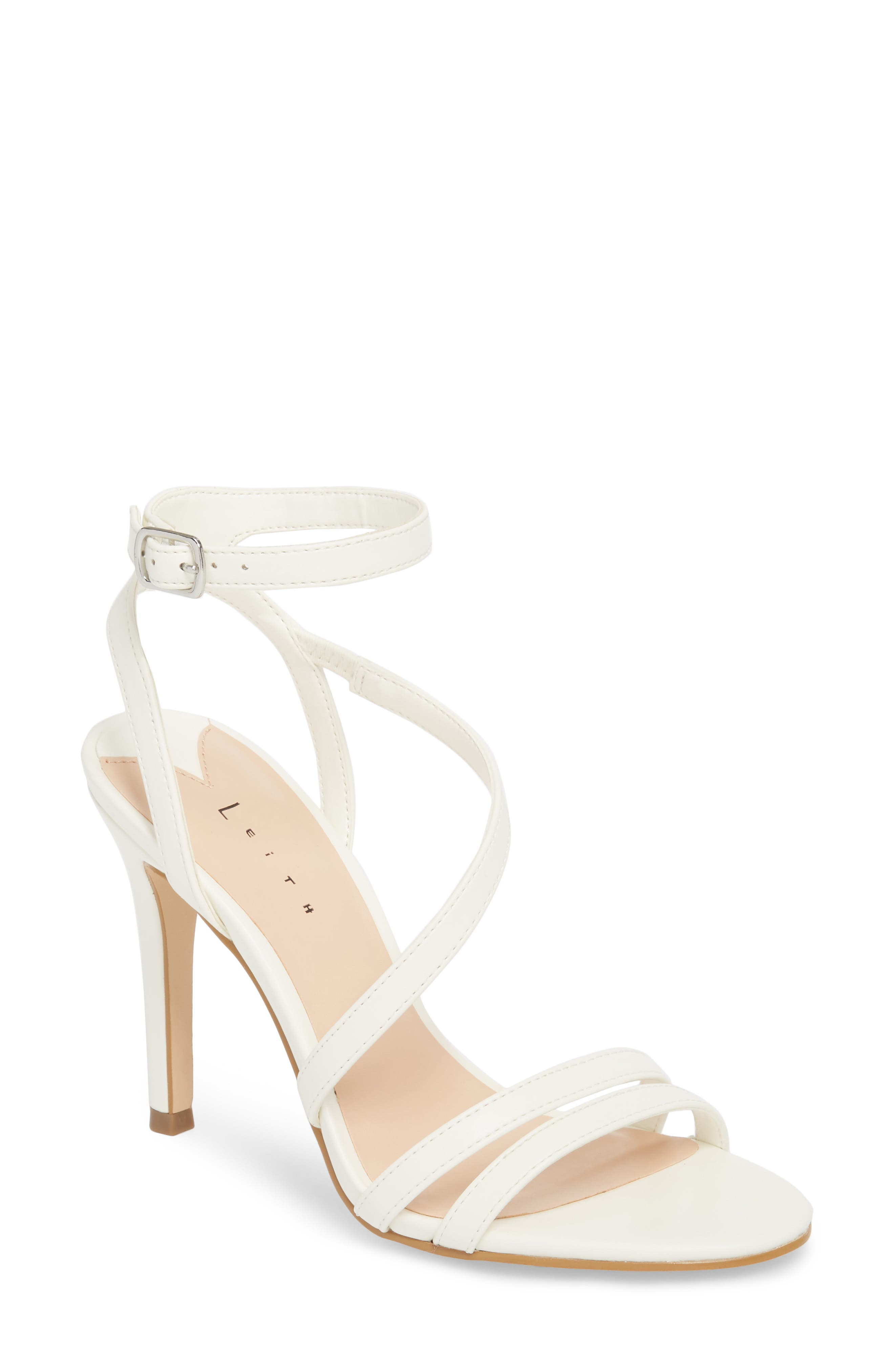 Leith Ava Asymmetrical Strappy Sandal (Women)