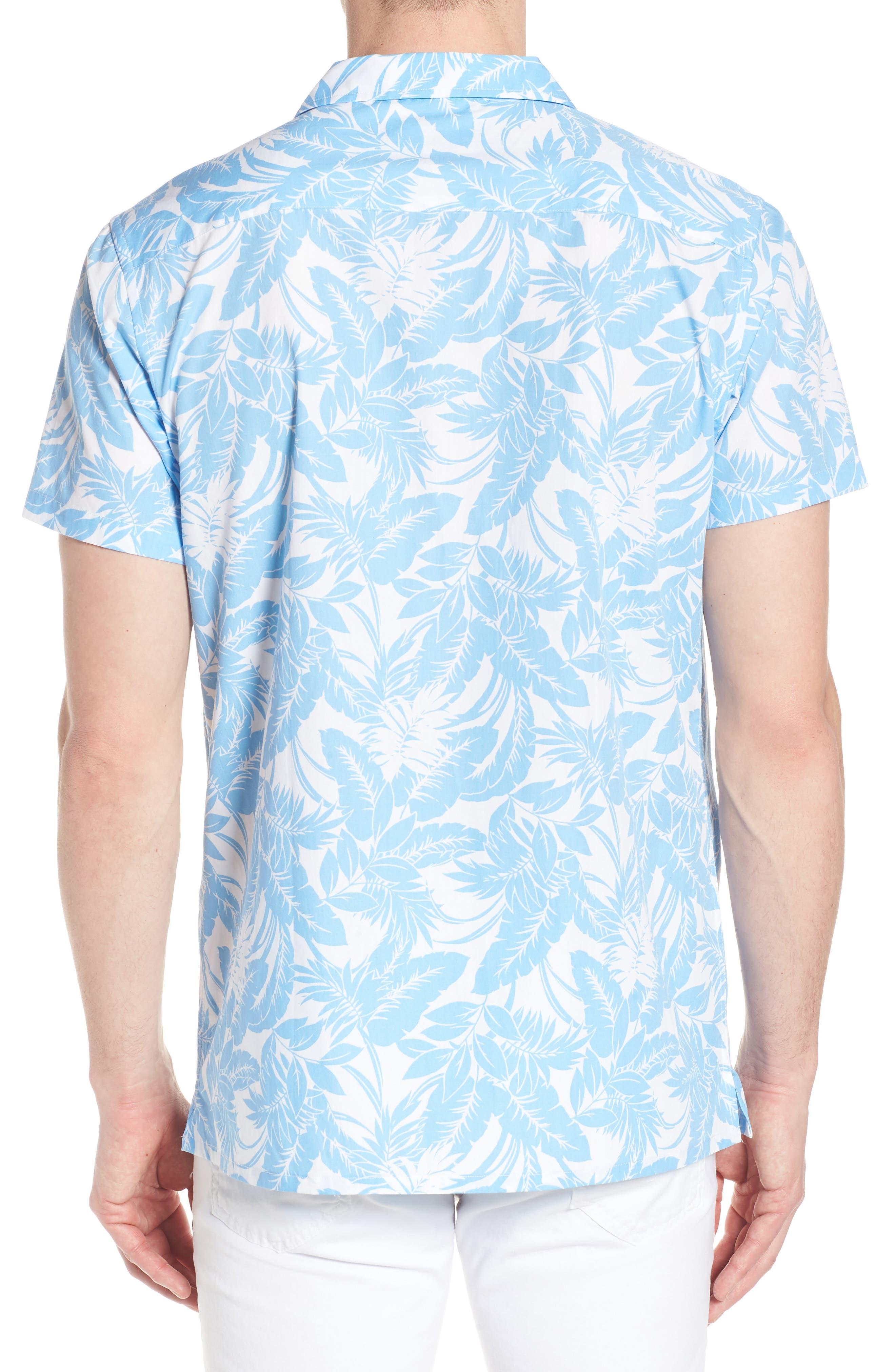 Camp Ventu Regular Fit Short Sleeve Sport Shirt,                             Alternate thumbnail 3, color,                             Sky