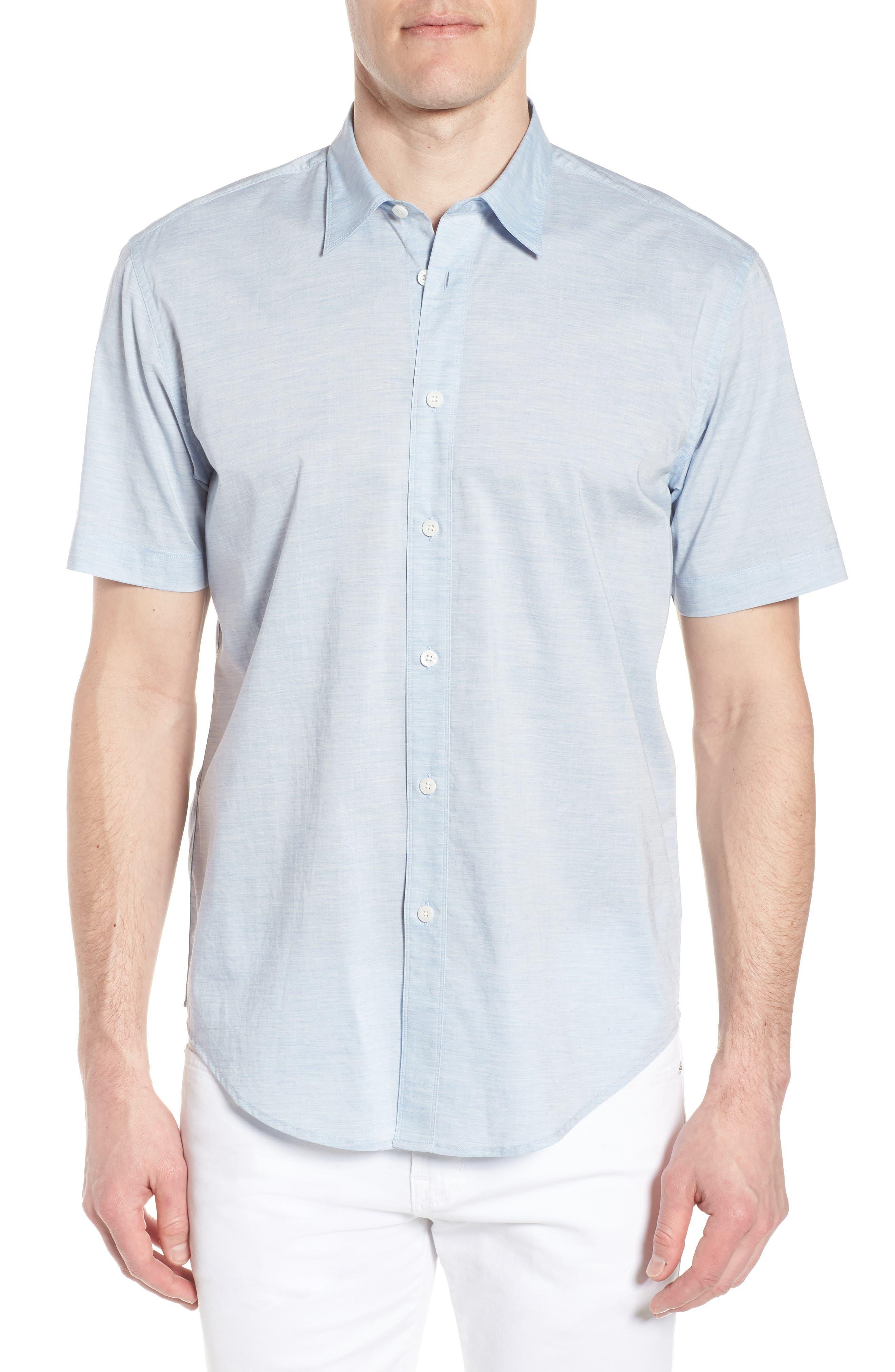 Solana Regular Fit Short Sleeve Sport Shirt,                         Main,                         color, Blue
