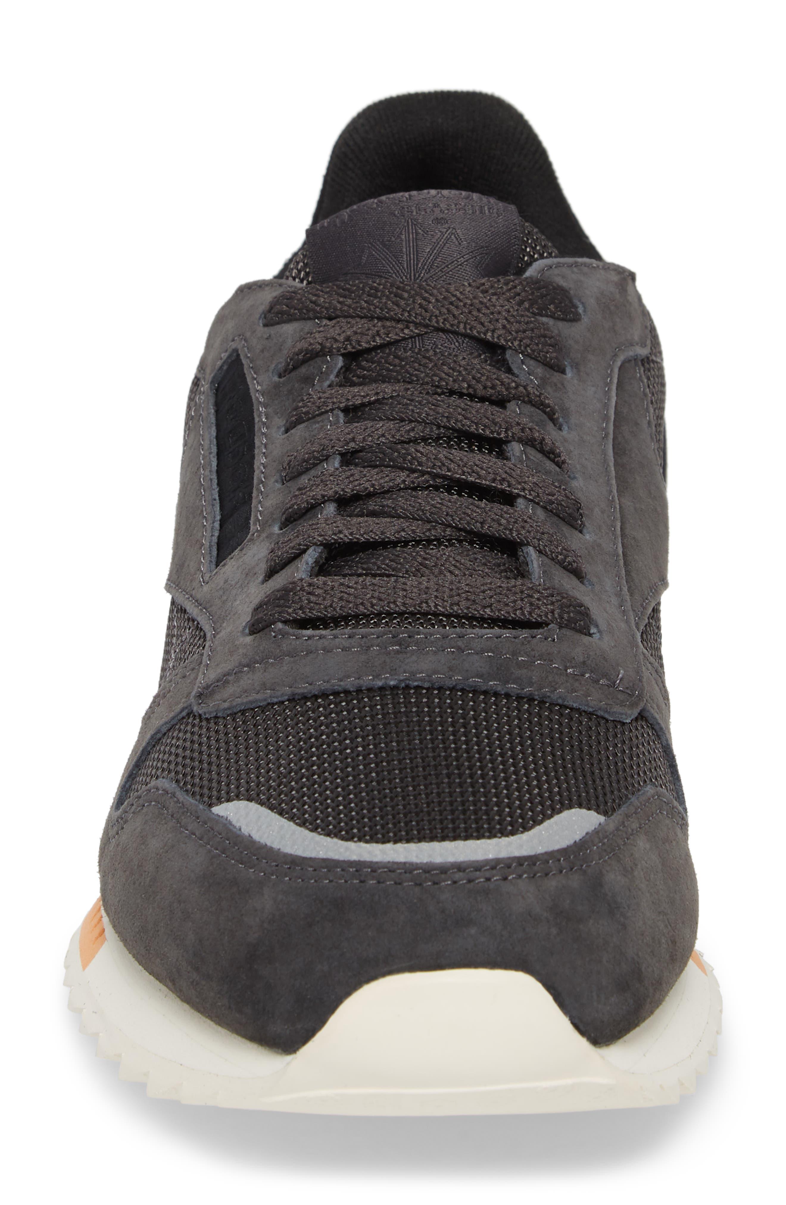 Classic Leather Ripple Sneaker,                             Alternate thumbnail 4, color,                             Coal/ Grey/ White/ Black/ Dust