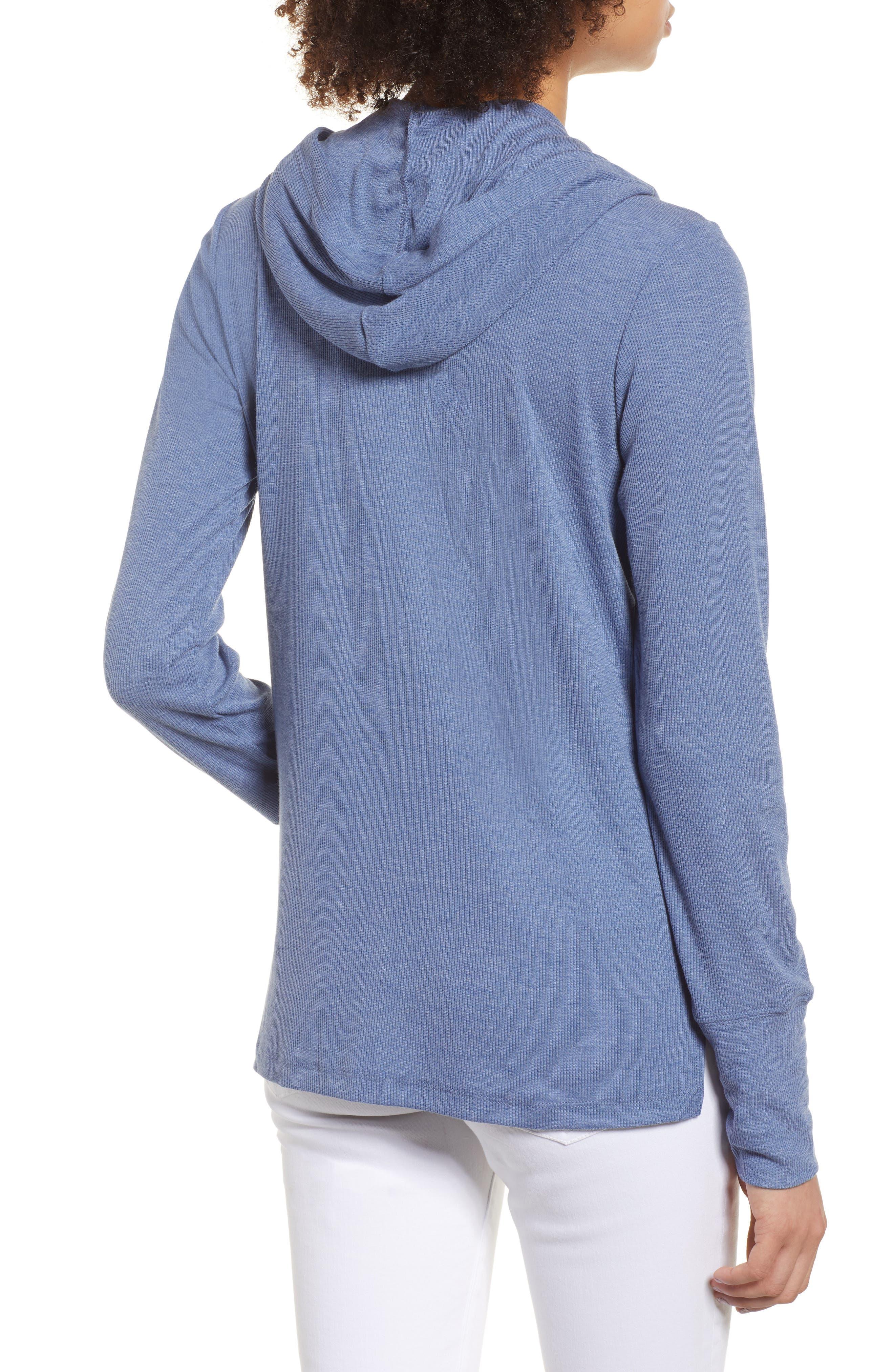 Campbell Kansas City Royals Rib Knit Hooded Top,                             Alternate thumbnail 2, color,                             Bleacher Blue