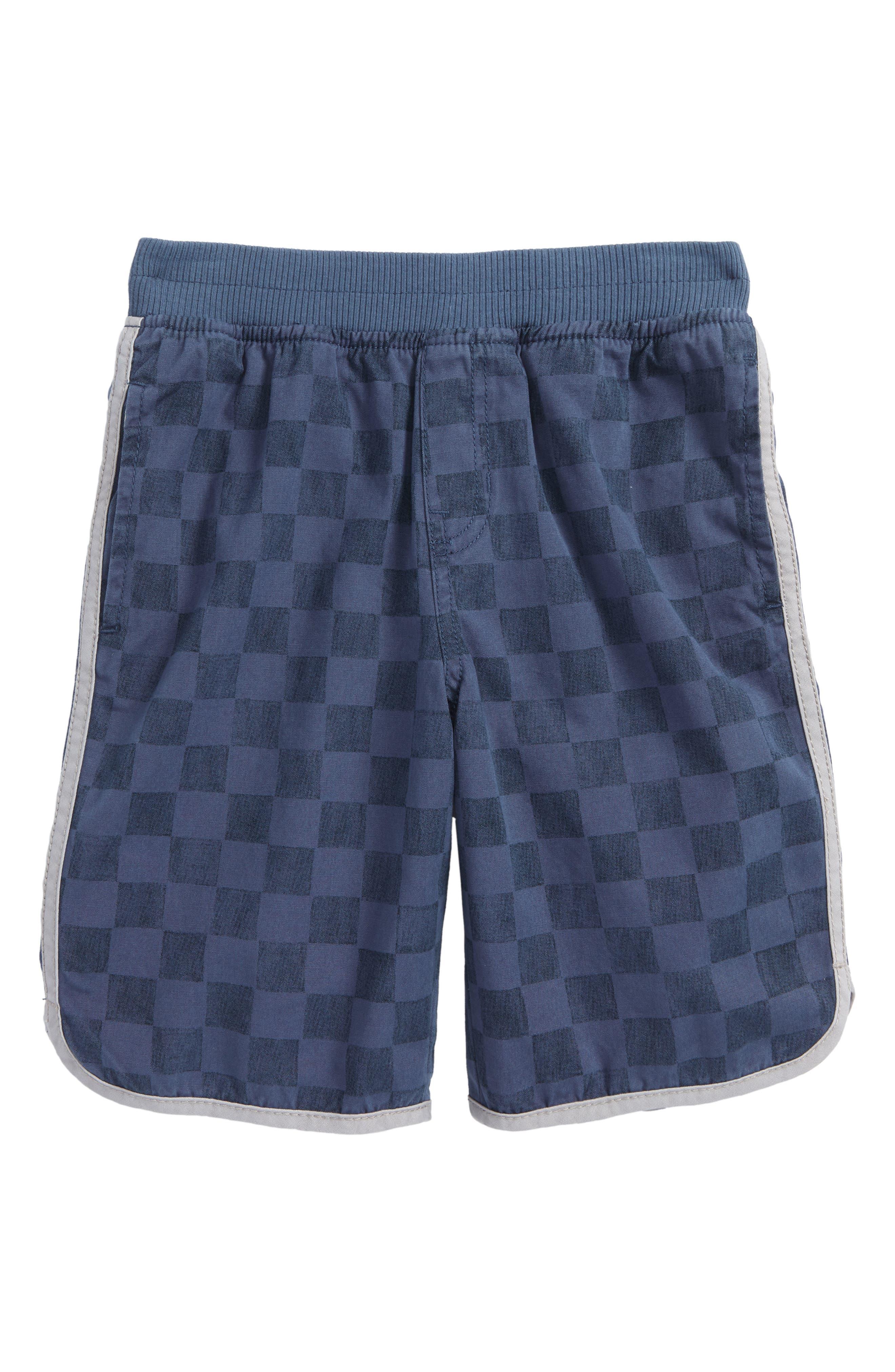 Piped Shorts,                             Main thumbnail 1, color,                             Loch Blue Checkerboard