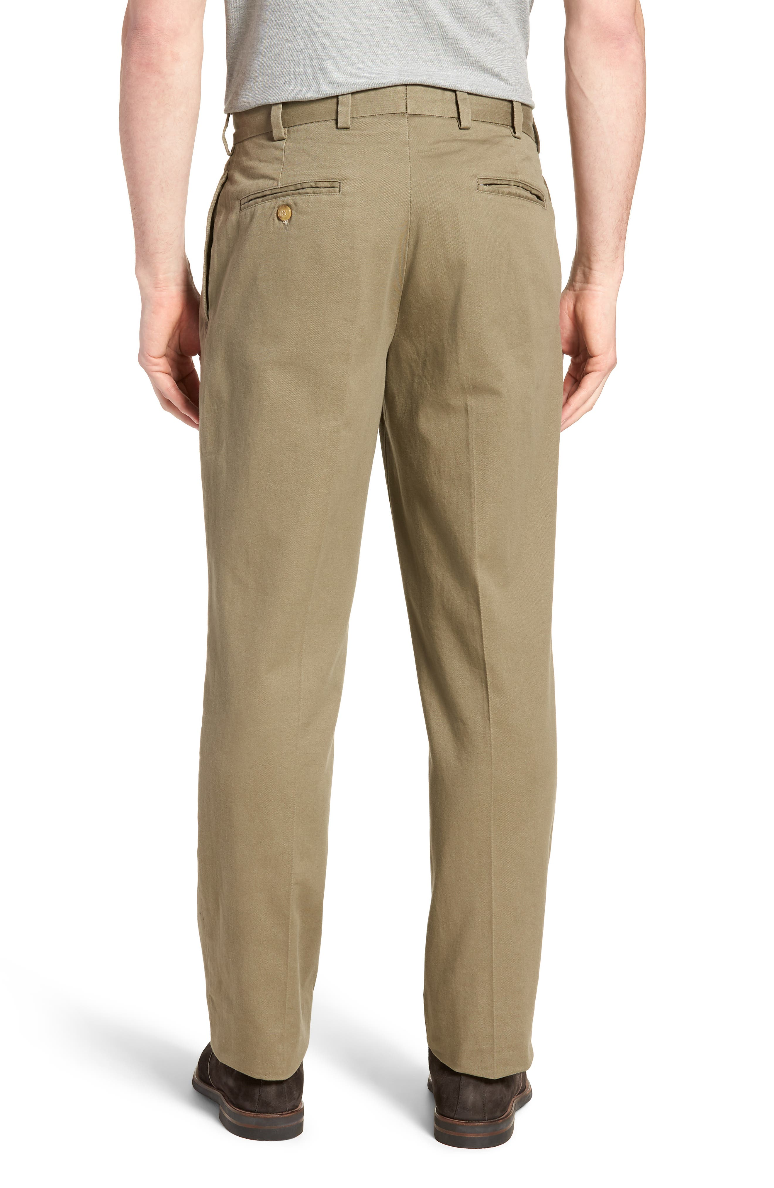 M2 Classic Fit Vintage Twill Pleated Pants,                             Alternate thumbnail 2, color,                             Olive
