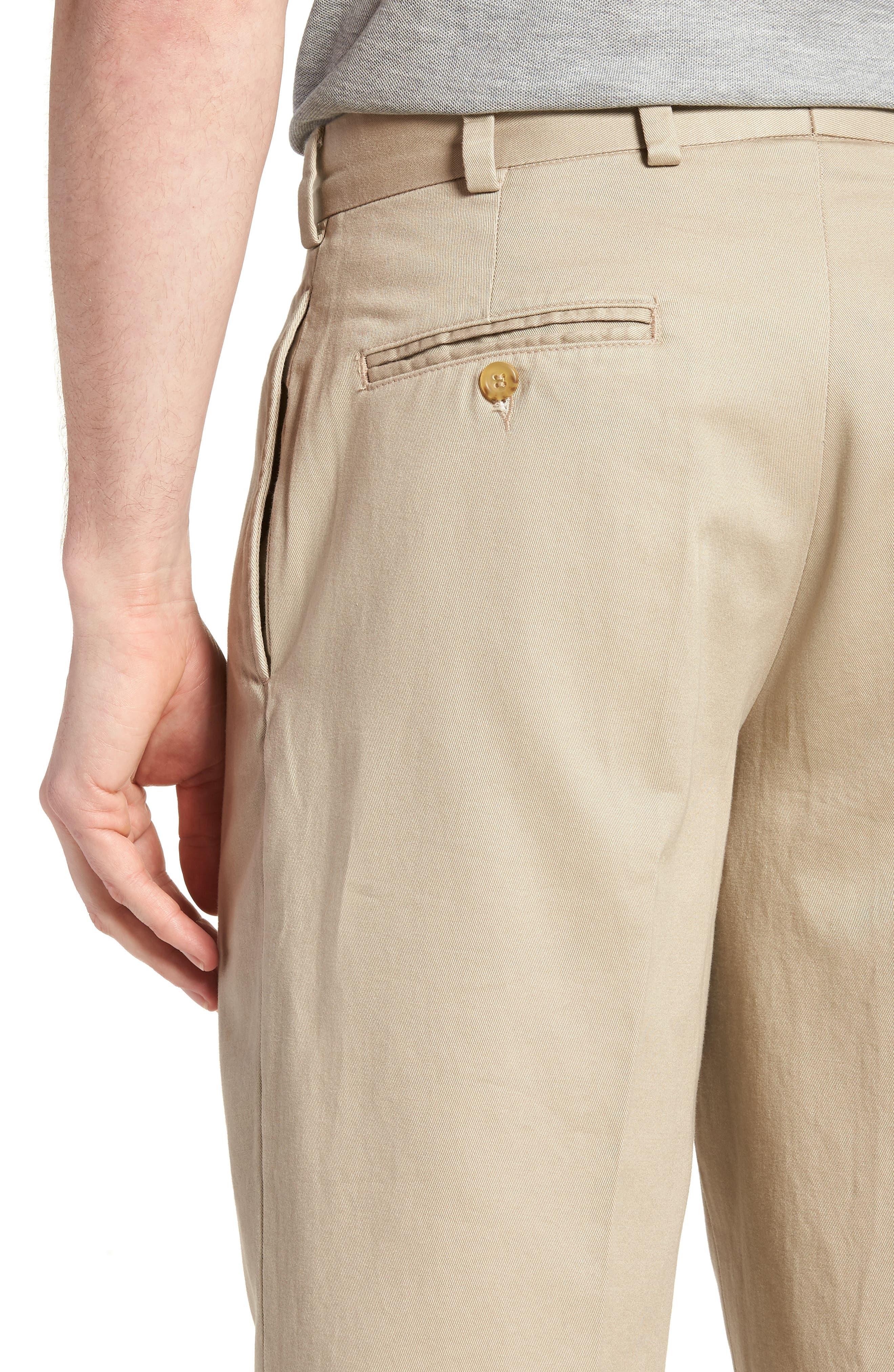 M2 Classic Fit Pleated Vintage Twill Pants,                             Alternate thumbnail 4, color,                             Khaki