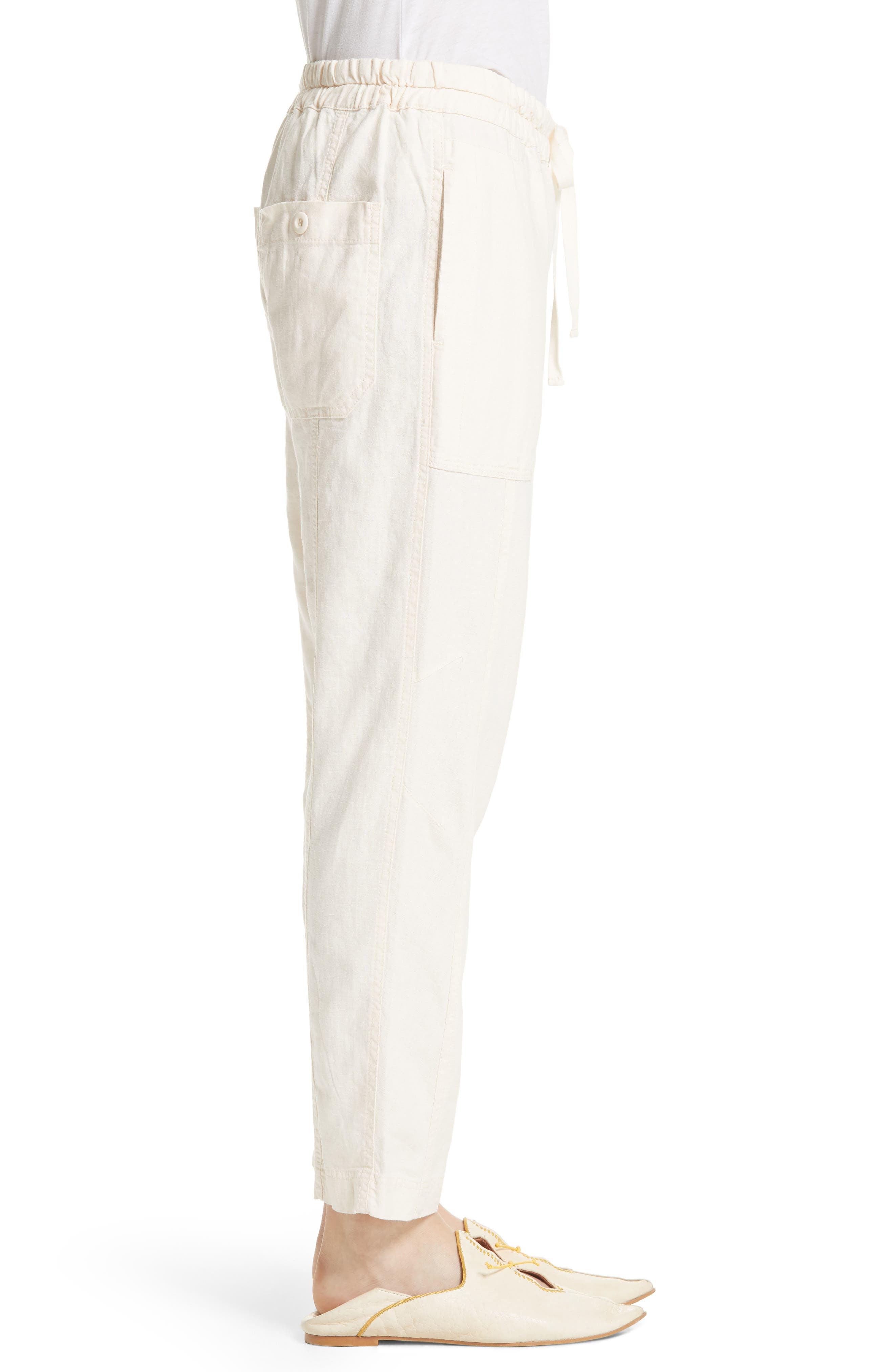 Palmer Skinny Utility Pants,                             Alternate thumbnail 3, color,                             Ivory