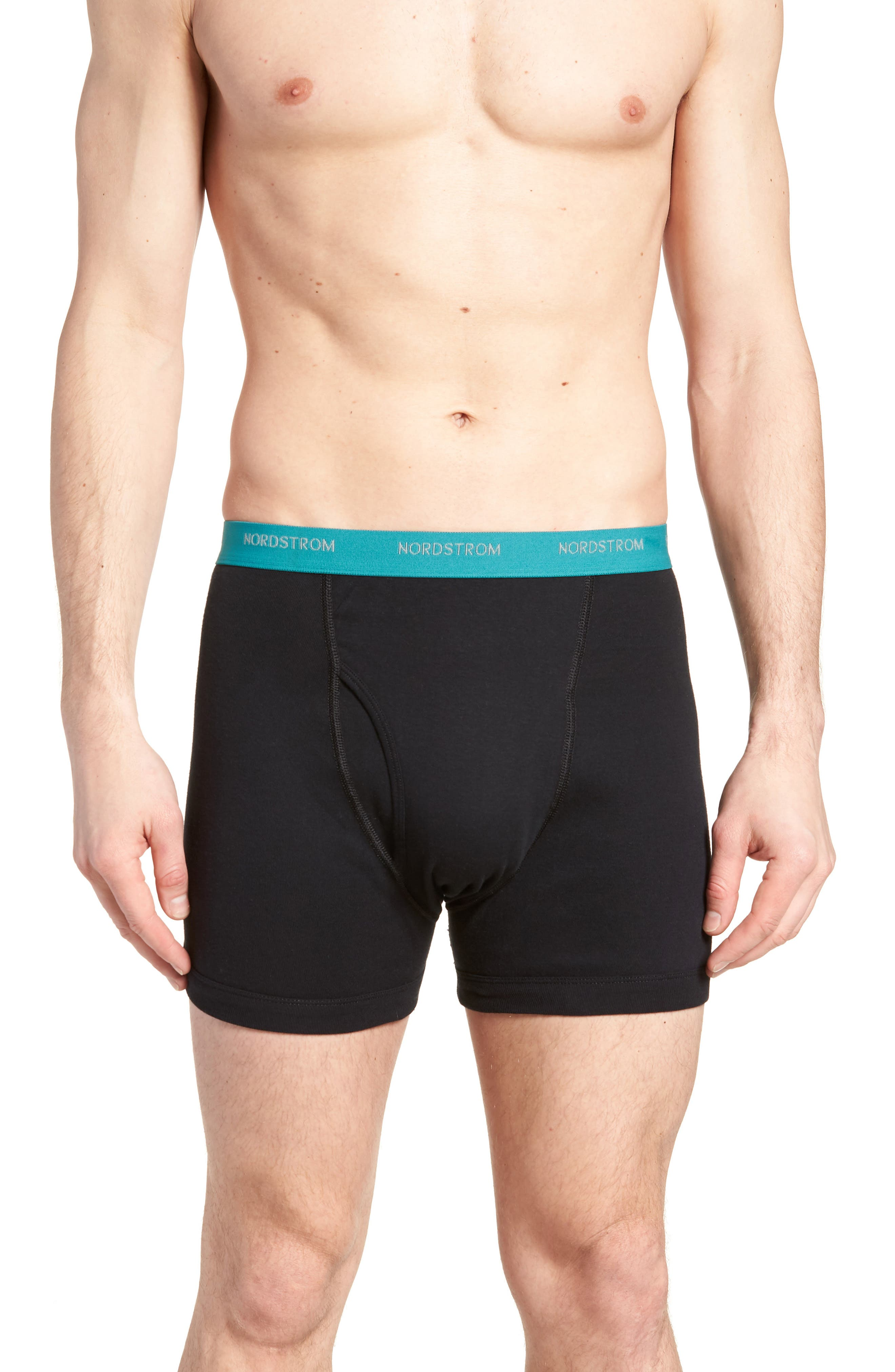 3-Pack Supima<sup>®</sup> Cotton Boxer Briefs,                             Alternate thumbnail 2, color,                             Black- Teal/ Green/ Lime