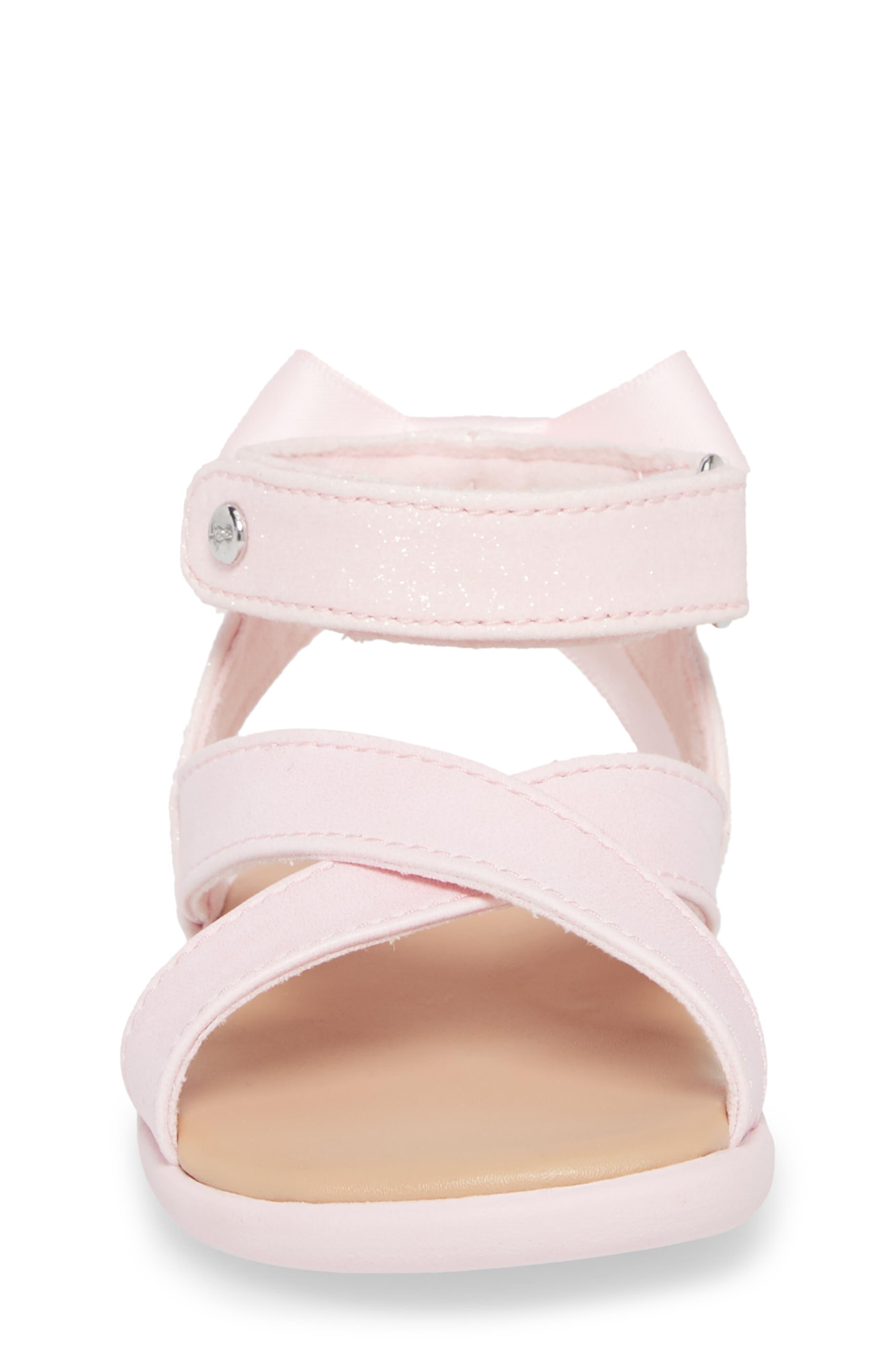 Alternate Image 4  - UGG® Maggiepie Sparkles Sandal (Baby & Walker)