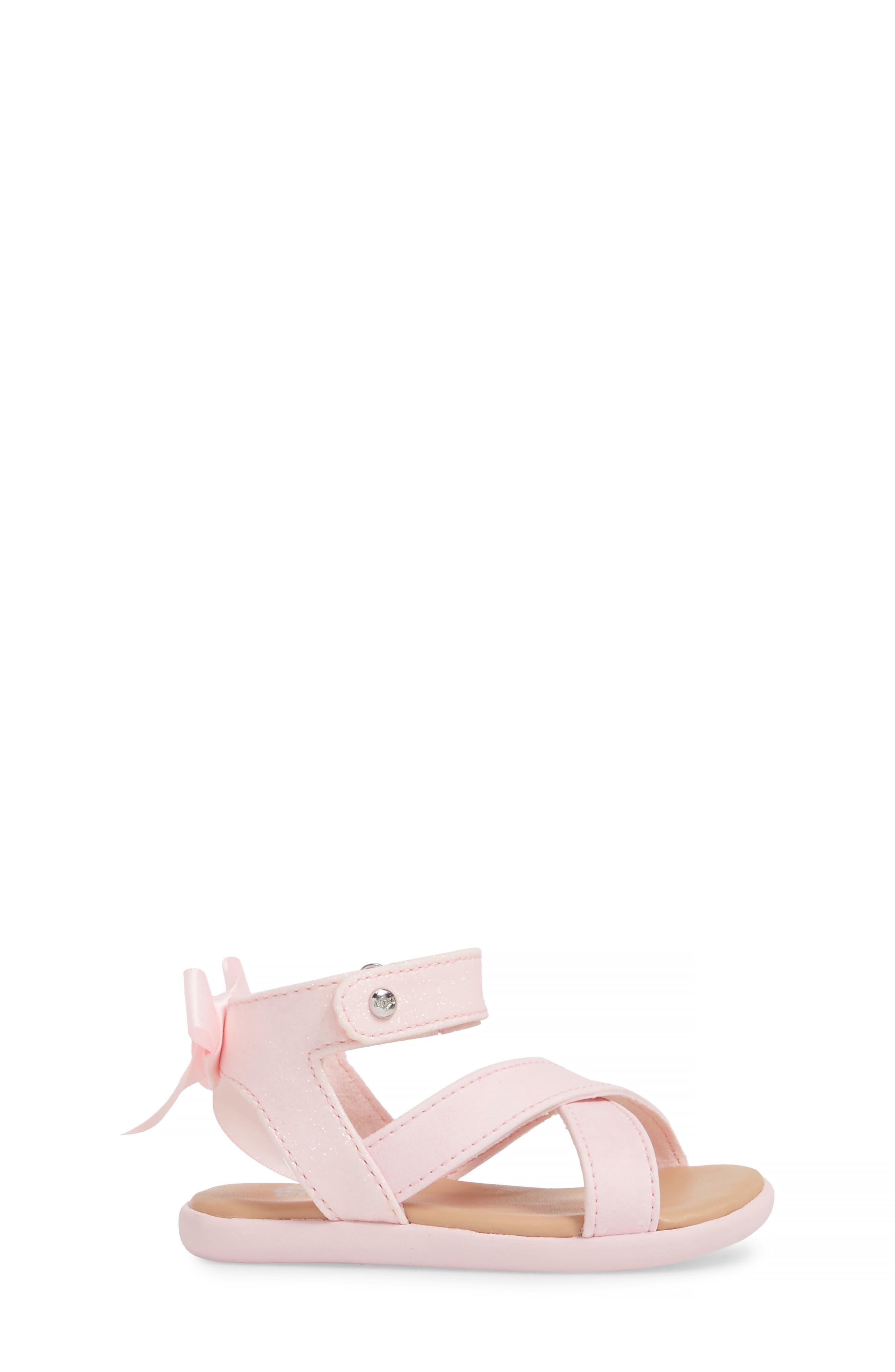 Alternate Image 3  - UGG® Maggiepie Sparkles Sandal (Baby & Walker)