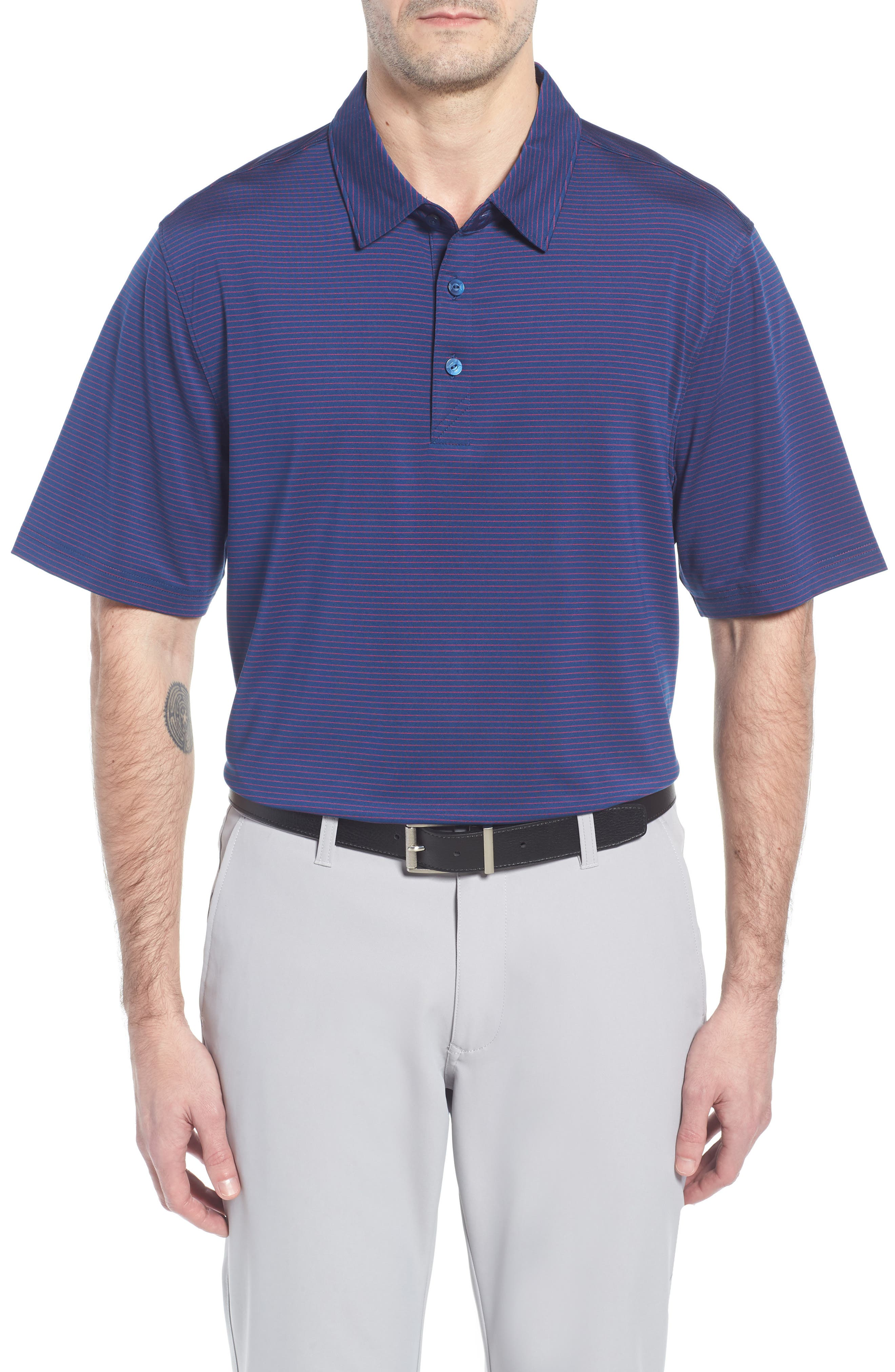 Cutter & Buck Samish Stripe DryTec Polo