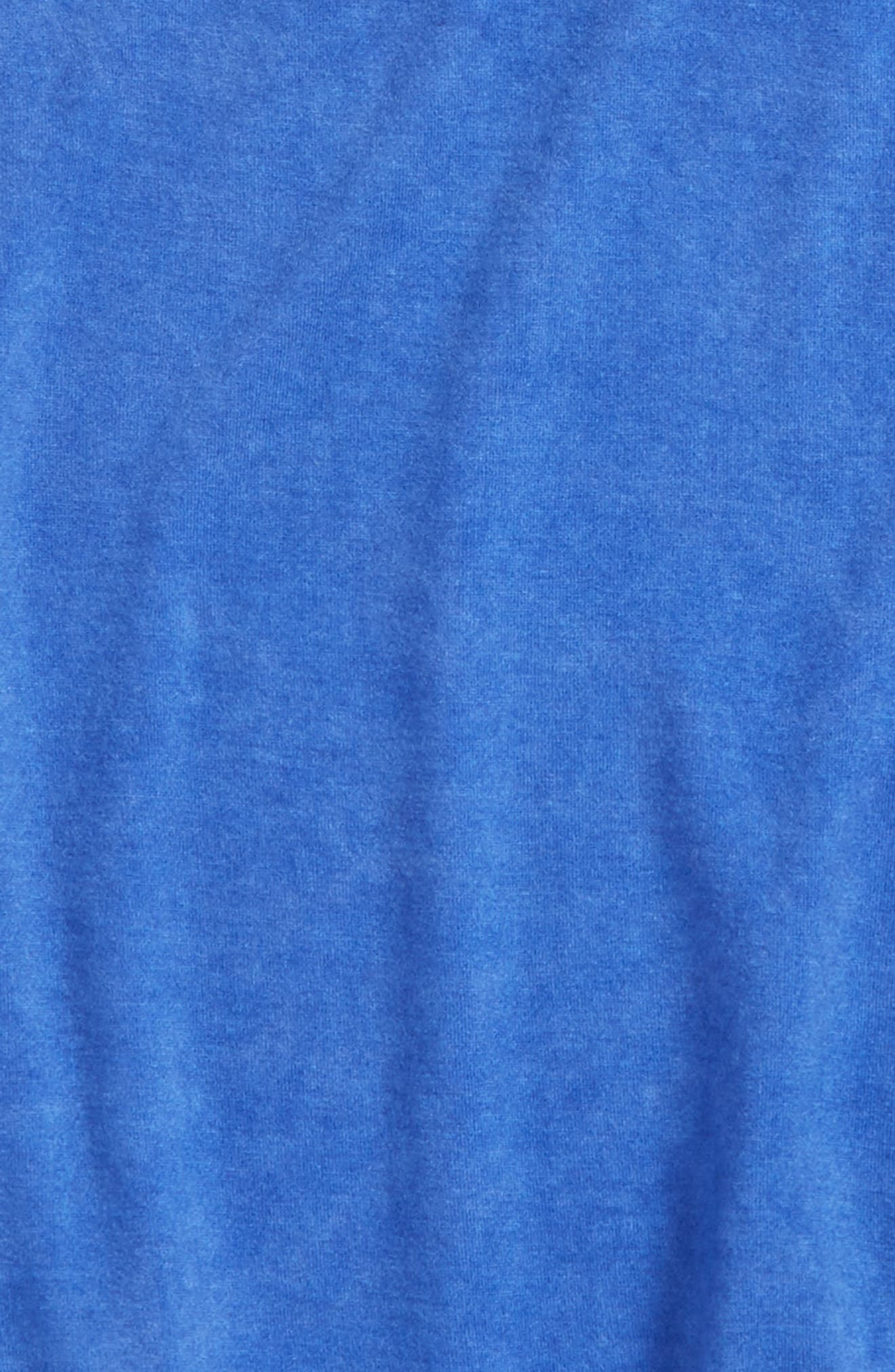 Peplum Tee,                             Alternate thumbnail 2, color,                             Blue Amparo Wash