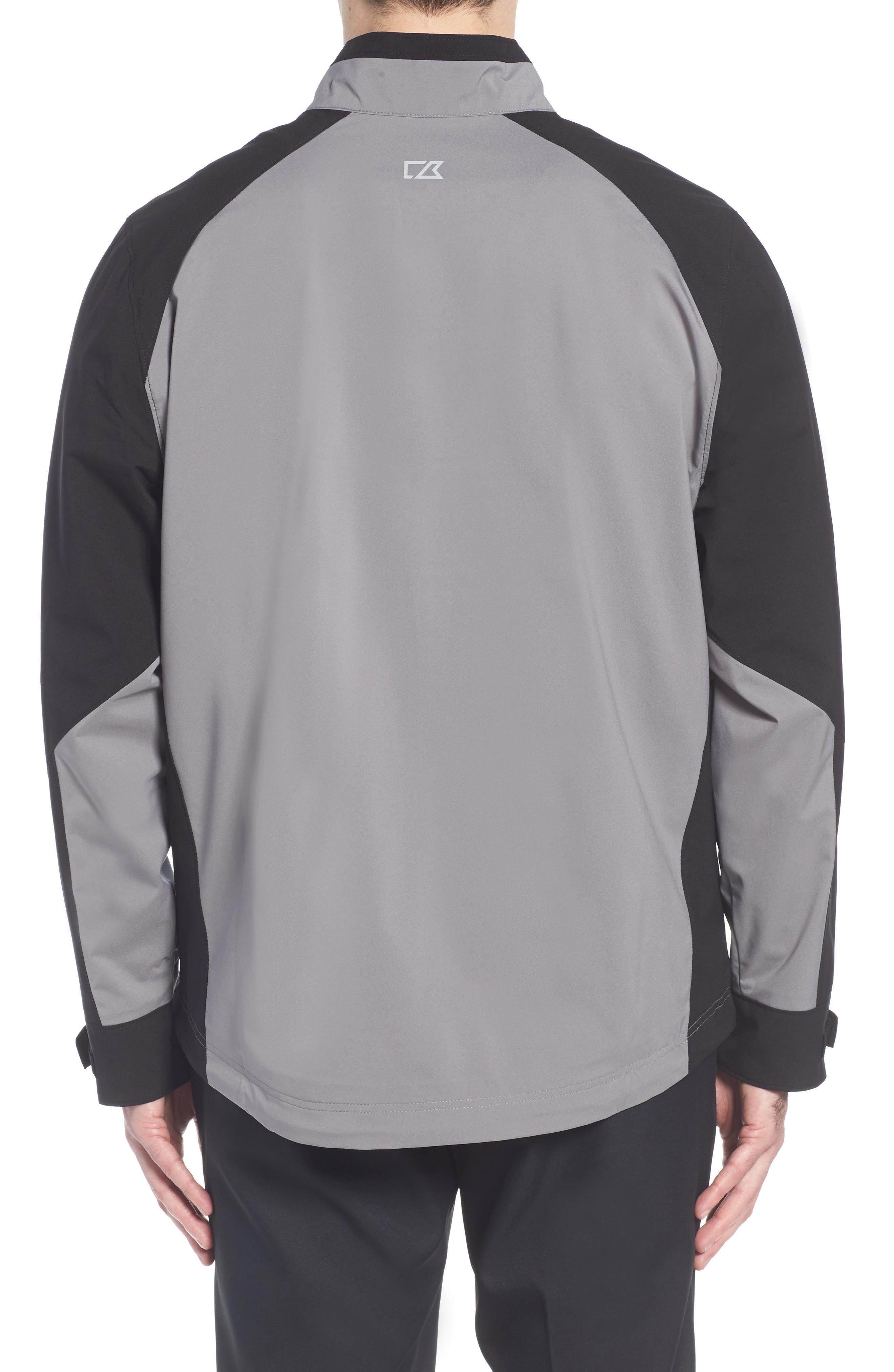'Summit' WeatherTec Wind & Water Resistant Half Zip Jacket,                             Alternate thumbnail 2, color,                             Gravel