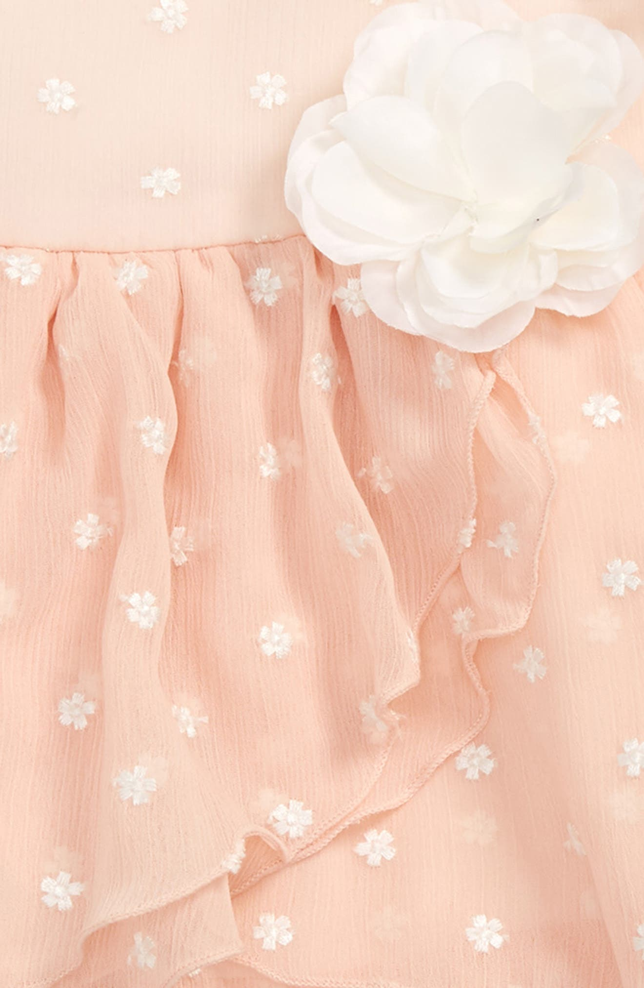 Crinkle Chiffon Dress,                             Alternate thumbnail 2, color,                             Peach