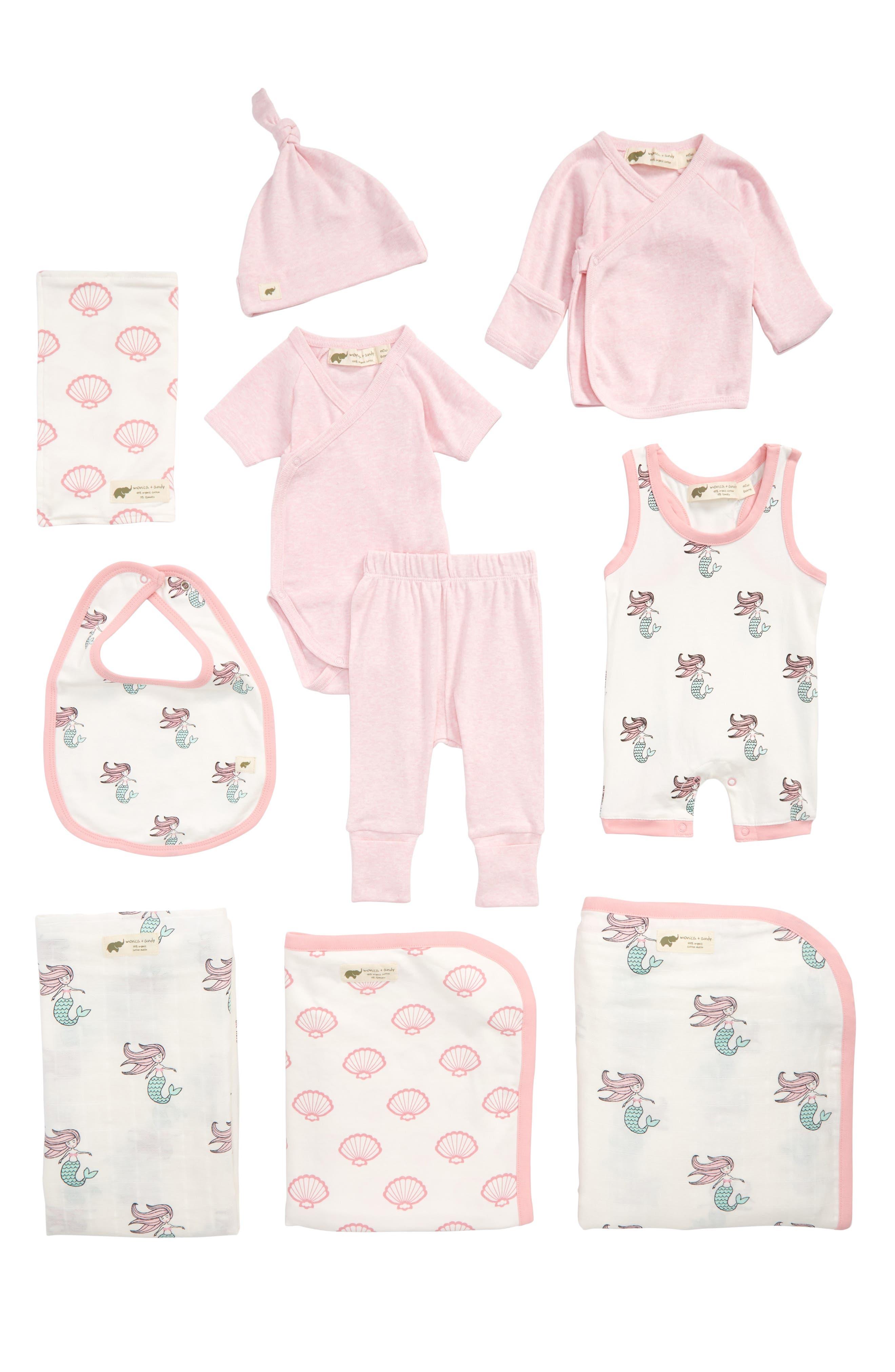 Monica + Andy 9-Piece Bundle Gift Set (Baby Girls)