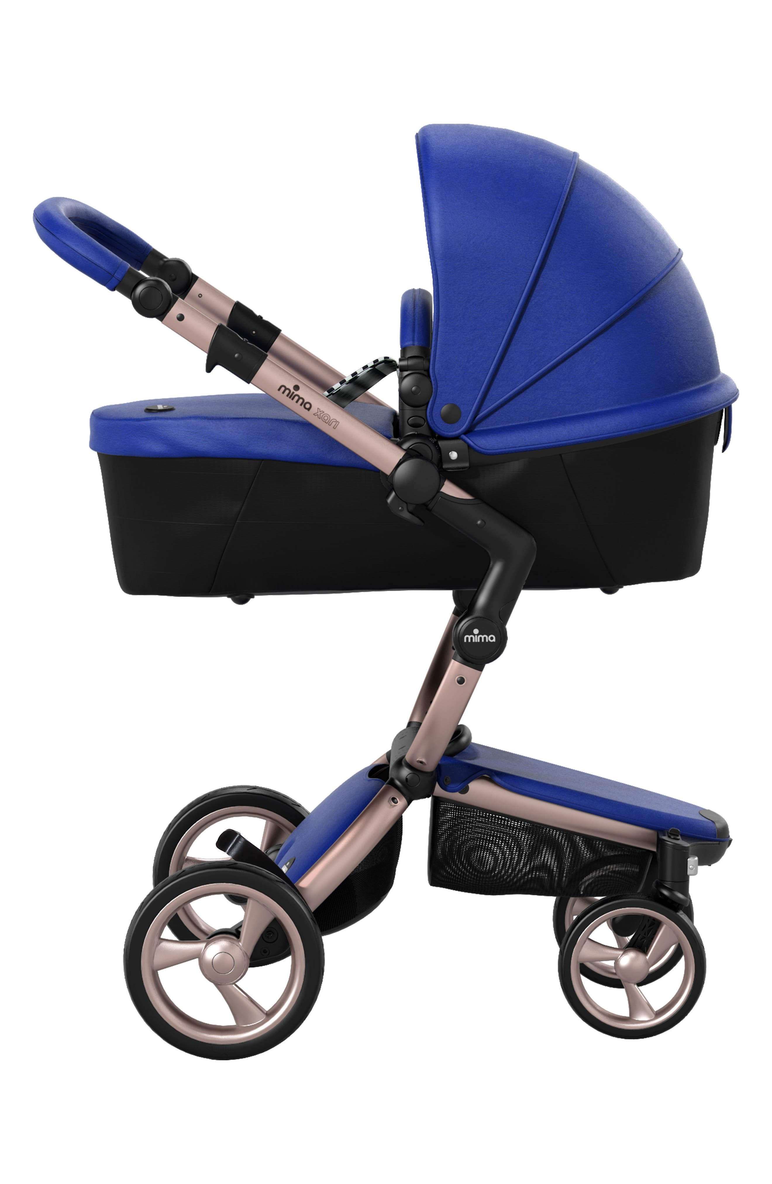 Alternate Image 3  - Mima Xari Rose Gold Chassis Stroller with Reversible Reclining Seat & Carrycot