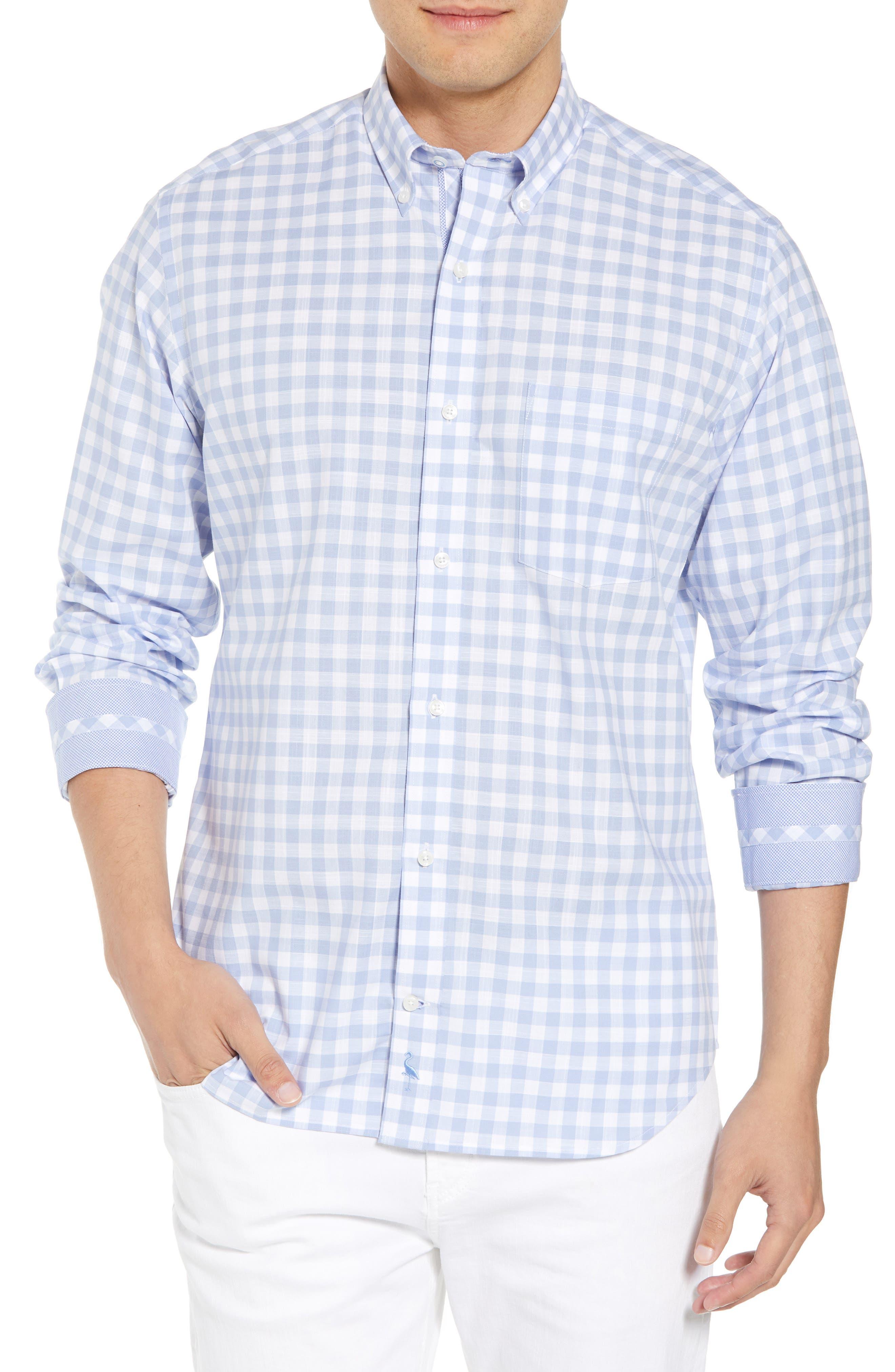 Eitenne Regular Fit Check Sport Shirt,                             Main thumbnail 1, color,                             Light Blue