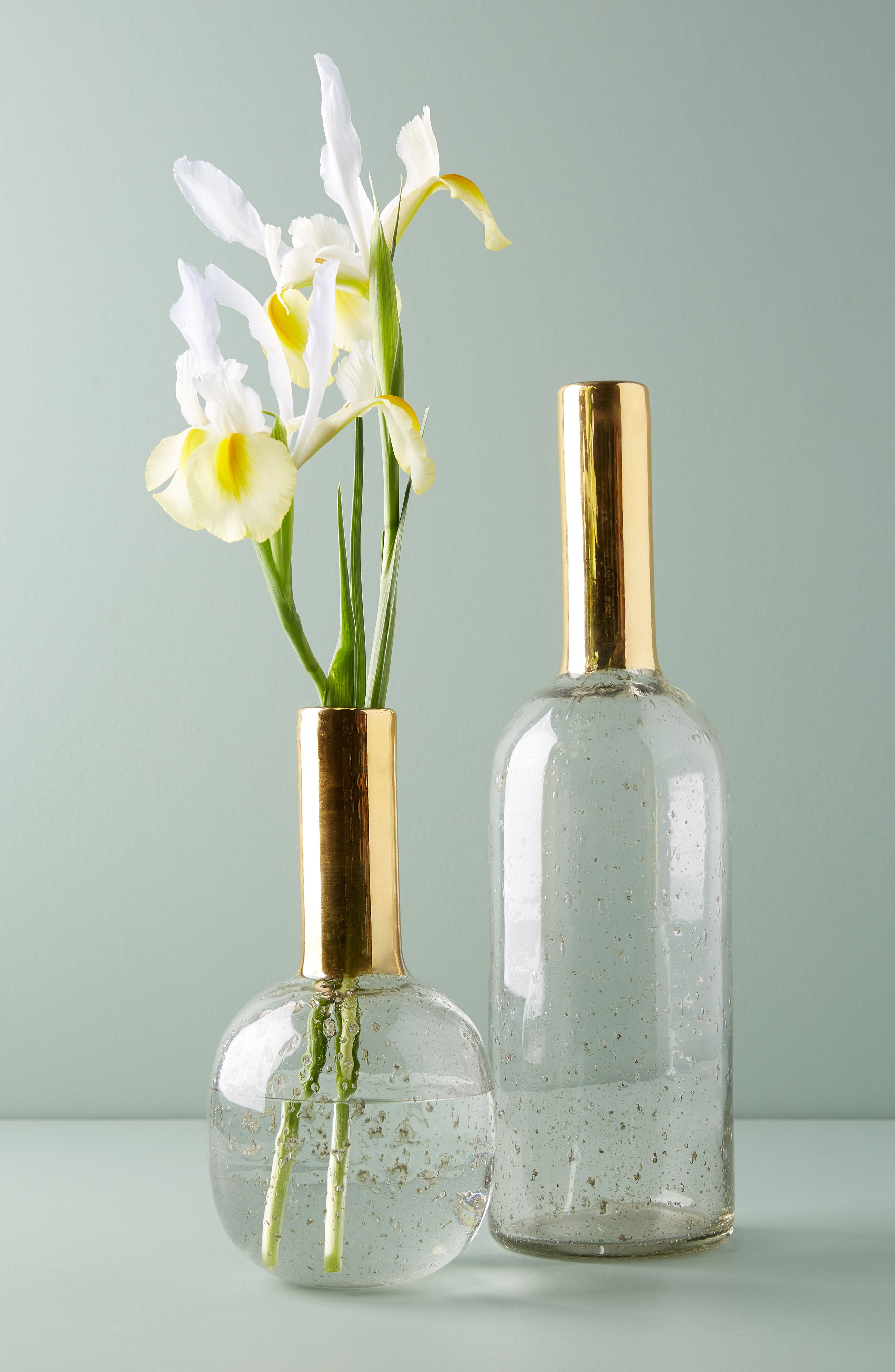 Gilded Bottleneck Vase,                             Alternate thumbnail 3, color,                             Gold