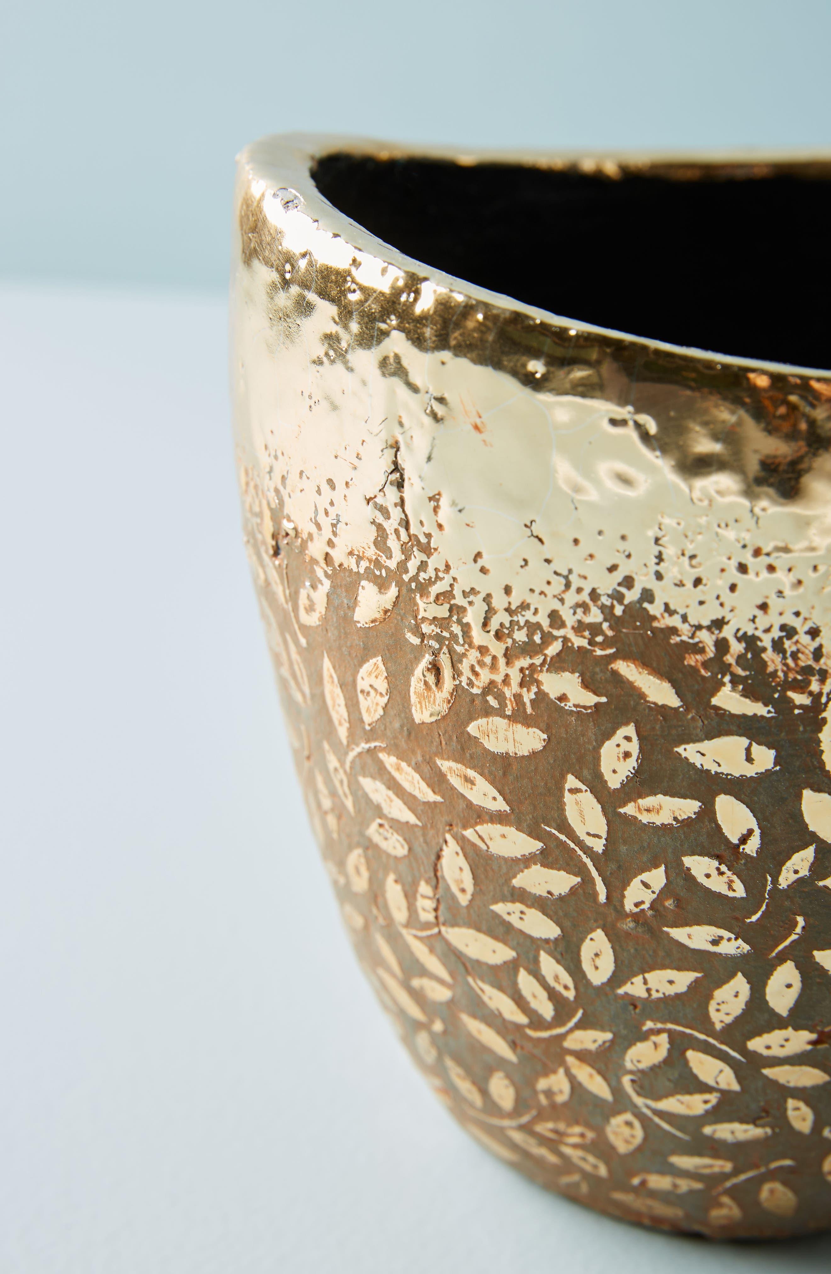 Studio Vine Pot,                             Alternate thumbnail 2, color,                             Gold