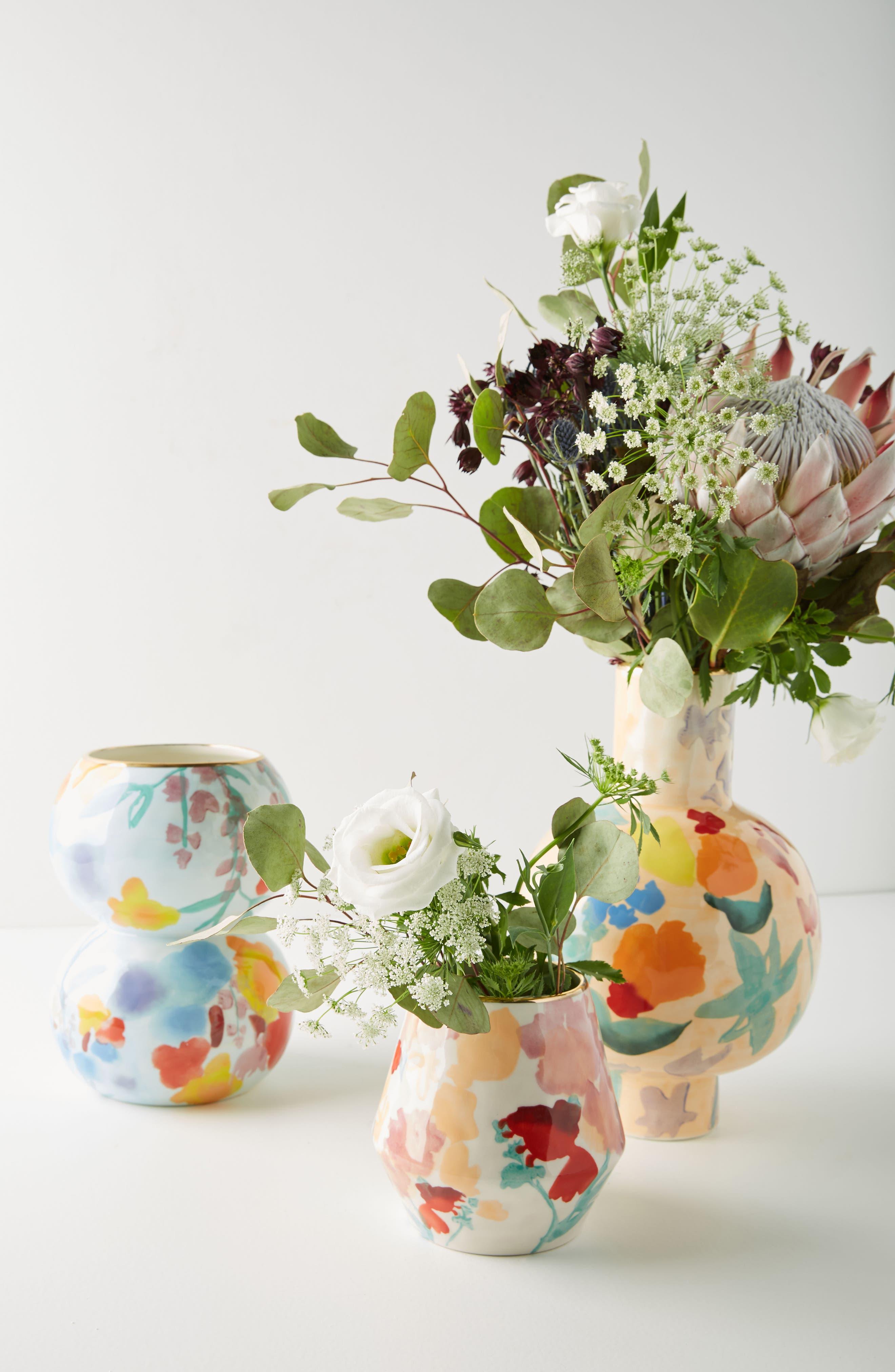 Larue Vase,                             Alternate thumbnail 3, color,                             Light Blue/ Orange