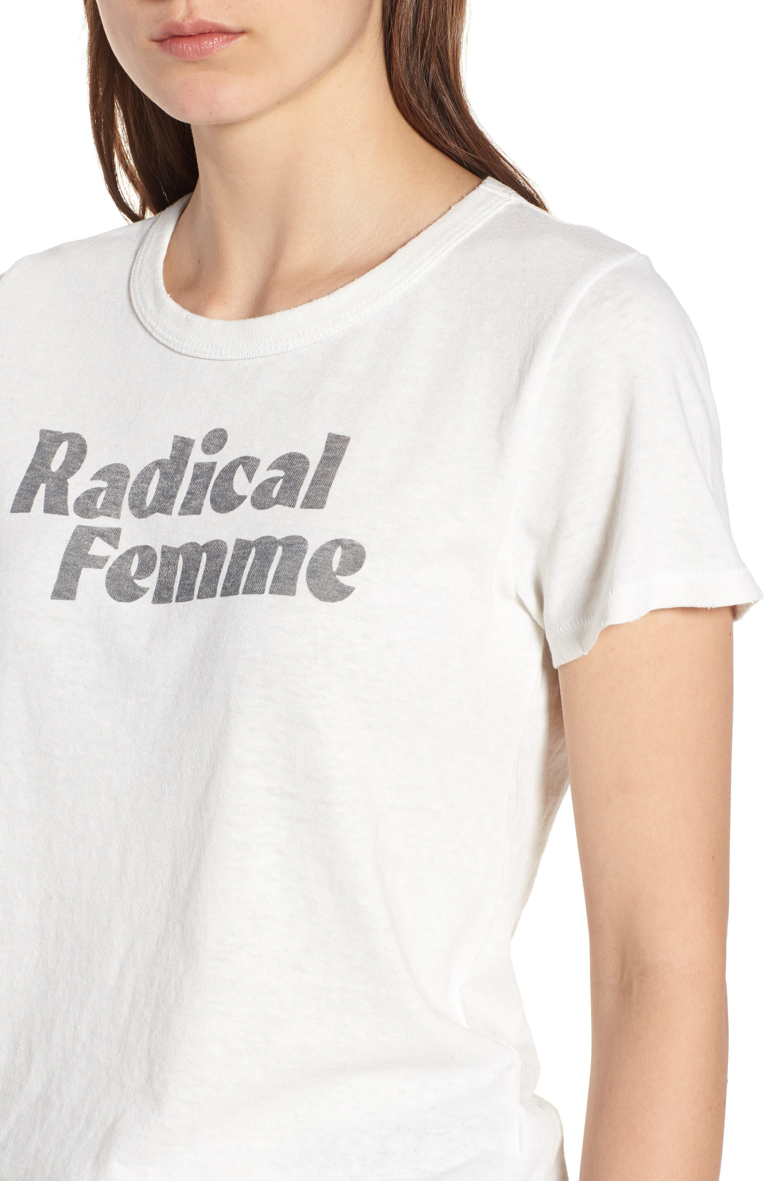 Radical Femme Tee,                             Alternate thumbnail 4, color,                             Vintage White