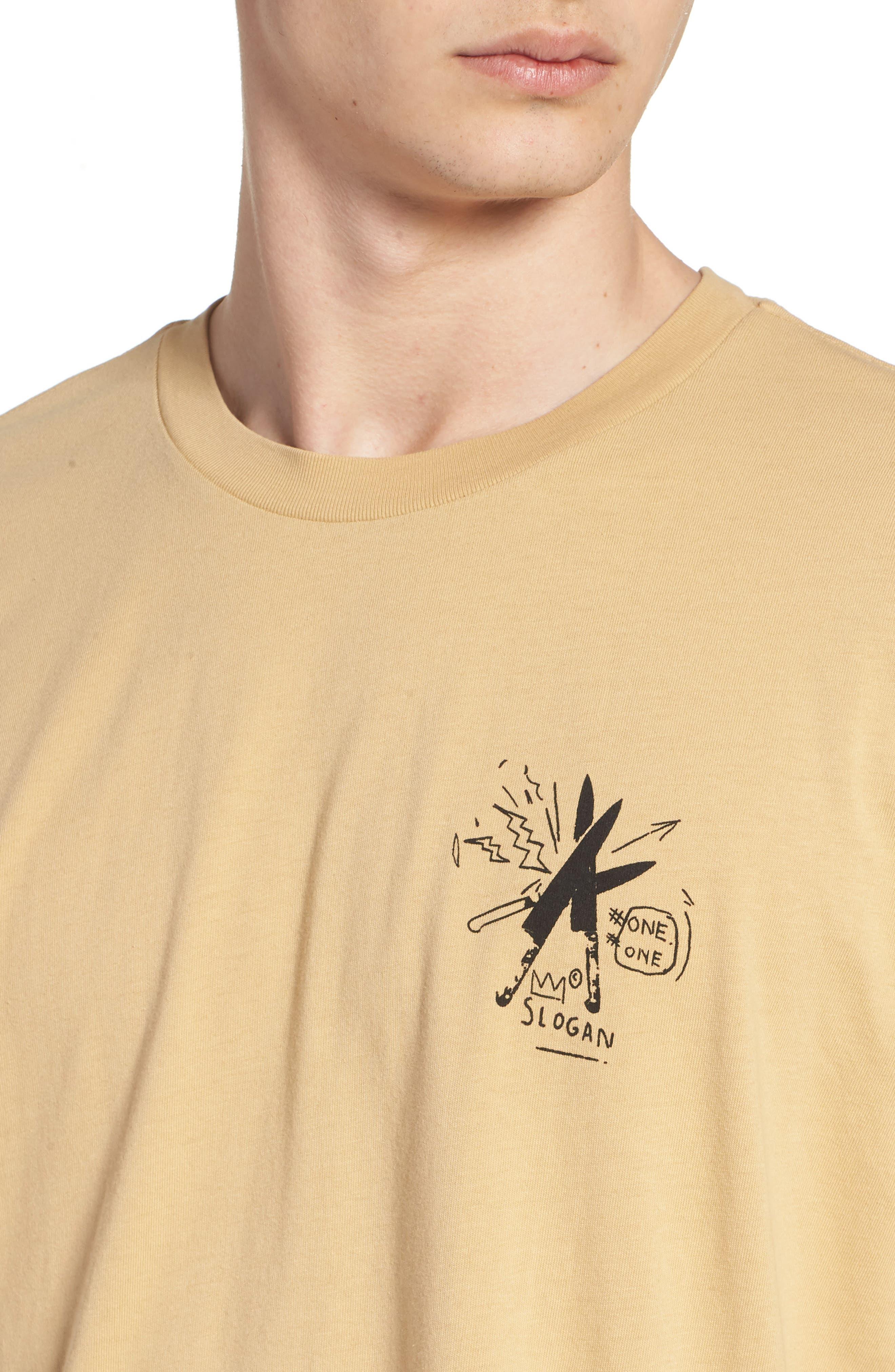 x Warhol Slogan T-Shirt,                             Alternate thumbnail 4, color,                             Straw