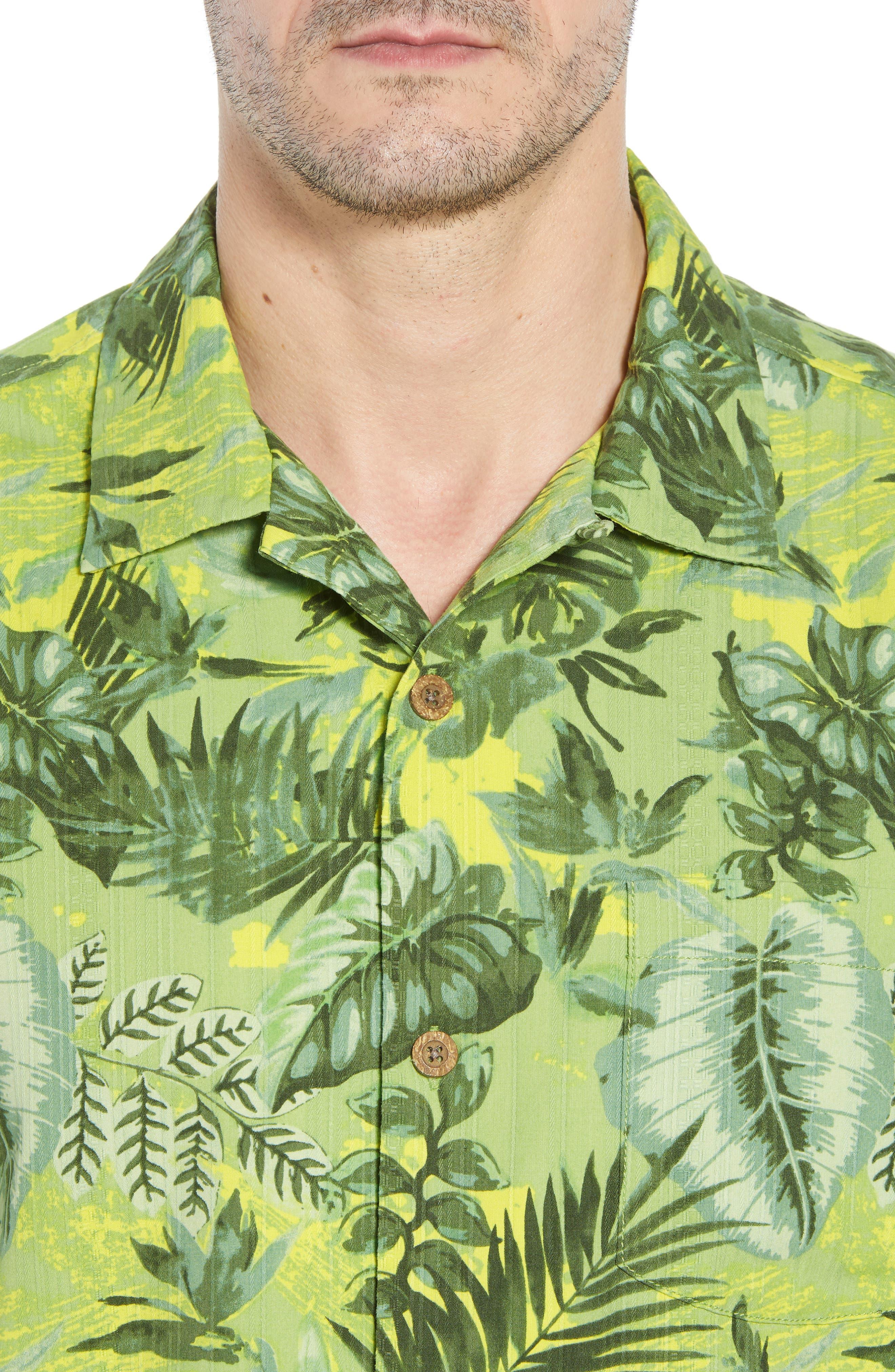 Selva Shores Silk Blend Performance Camp Shirt,                             Alternate thumbnail 2, color,                             Jasmine Green