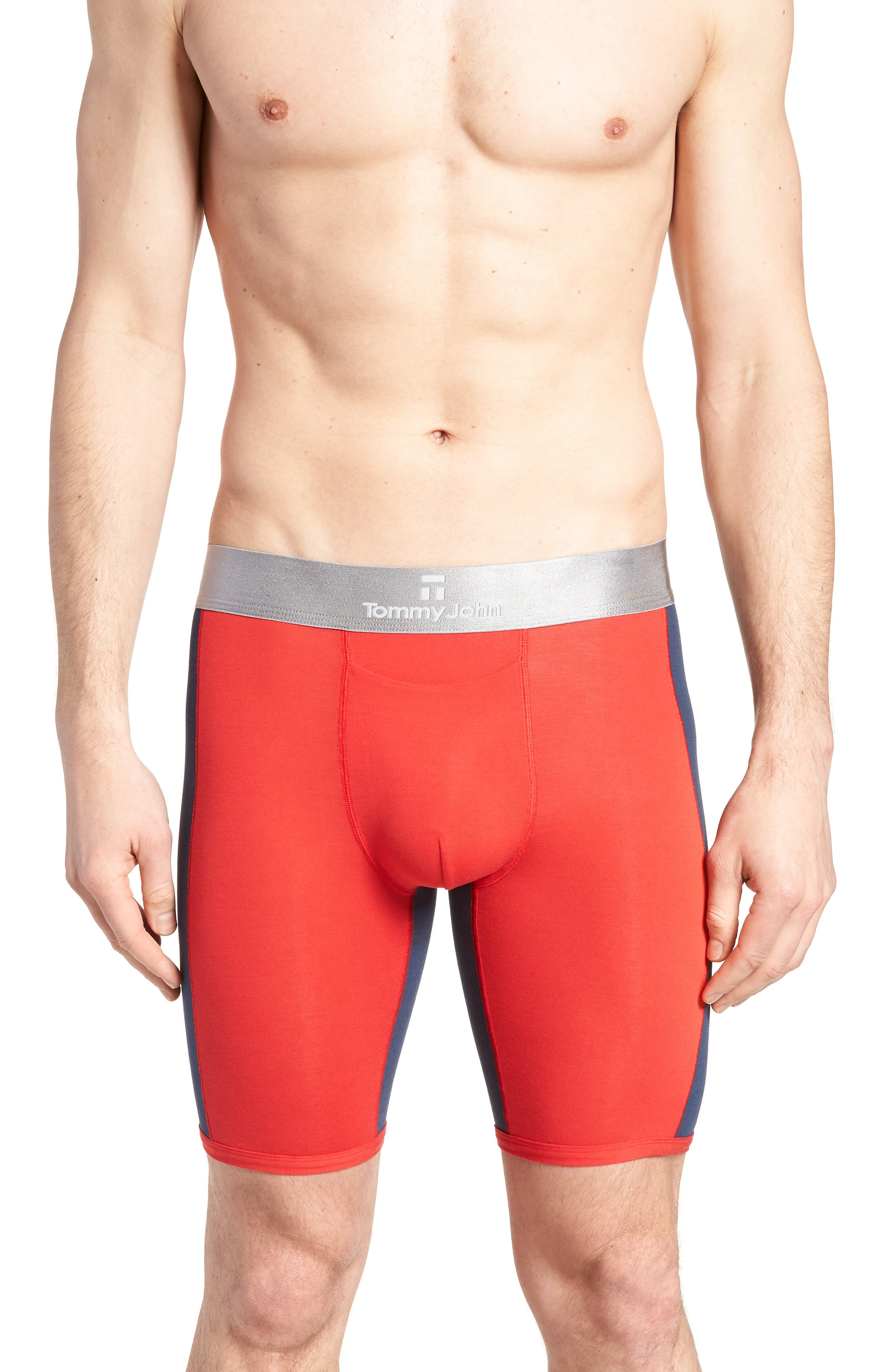 Second Skin Boxer Briefs,                             Main thumbnail 1, color,                             True Red/ Dress Blue