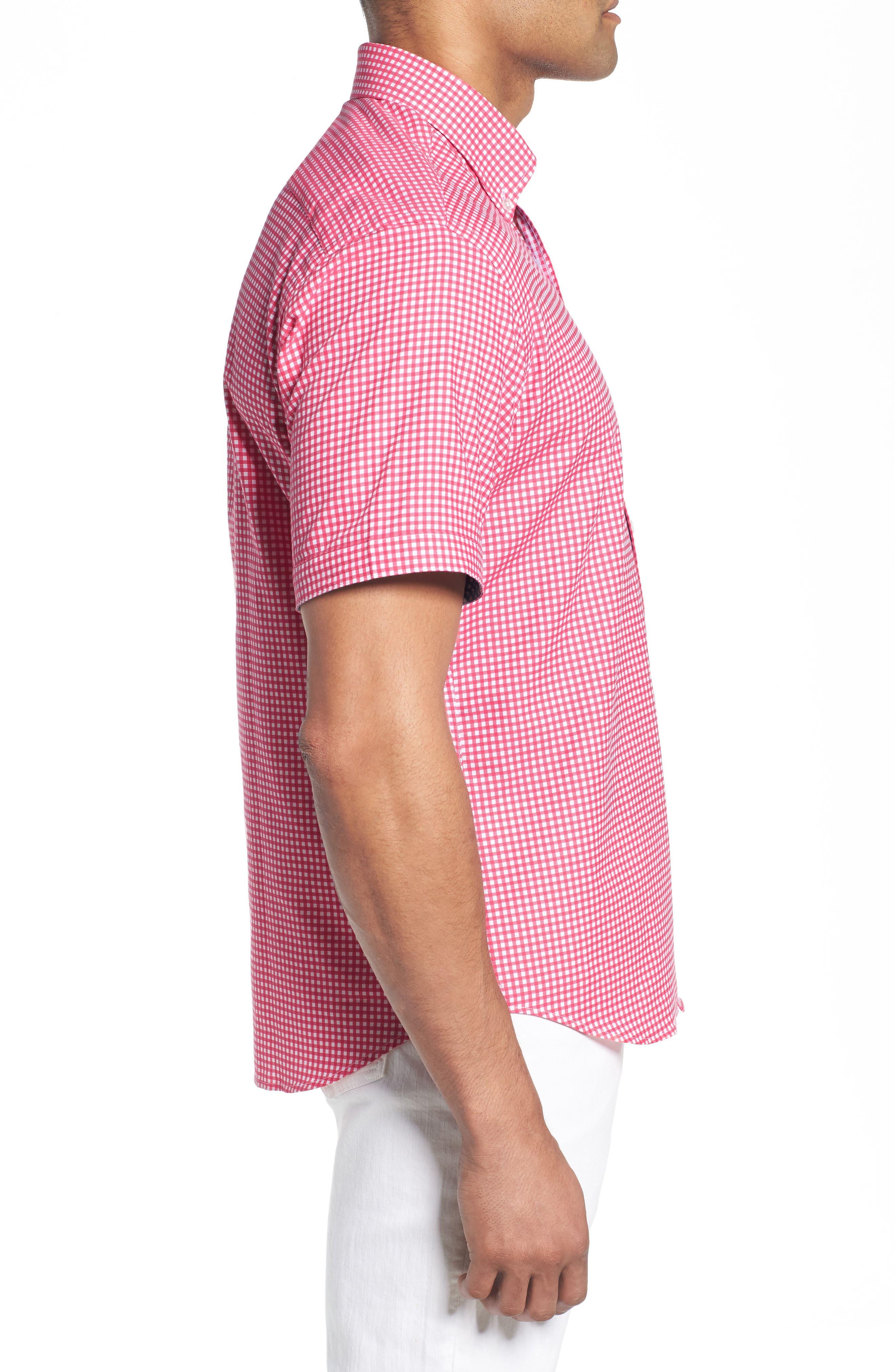 Aden Regular Fit Sport Shirt,                             Alternate thumbnail 4, color,                             Coral