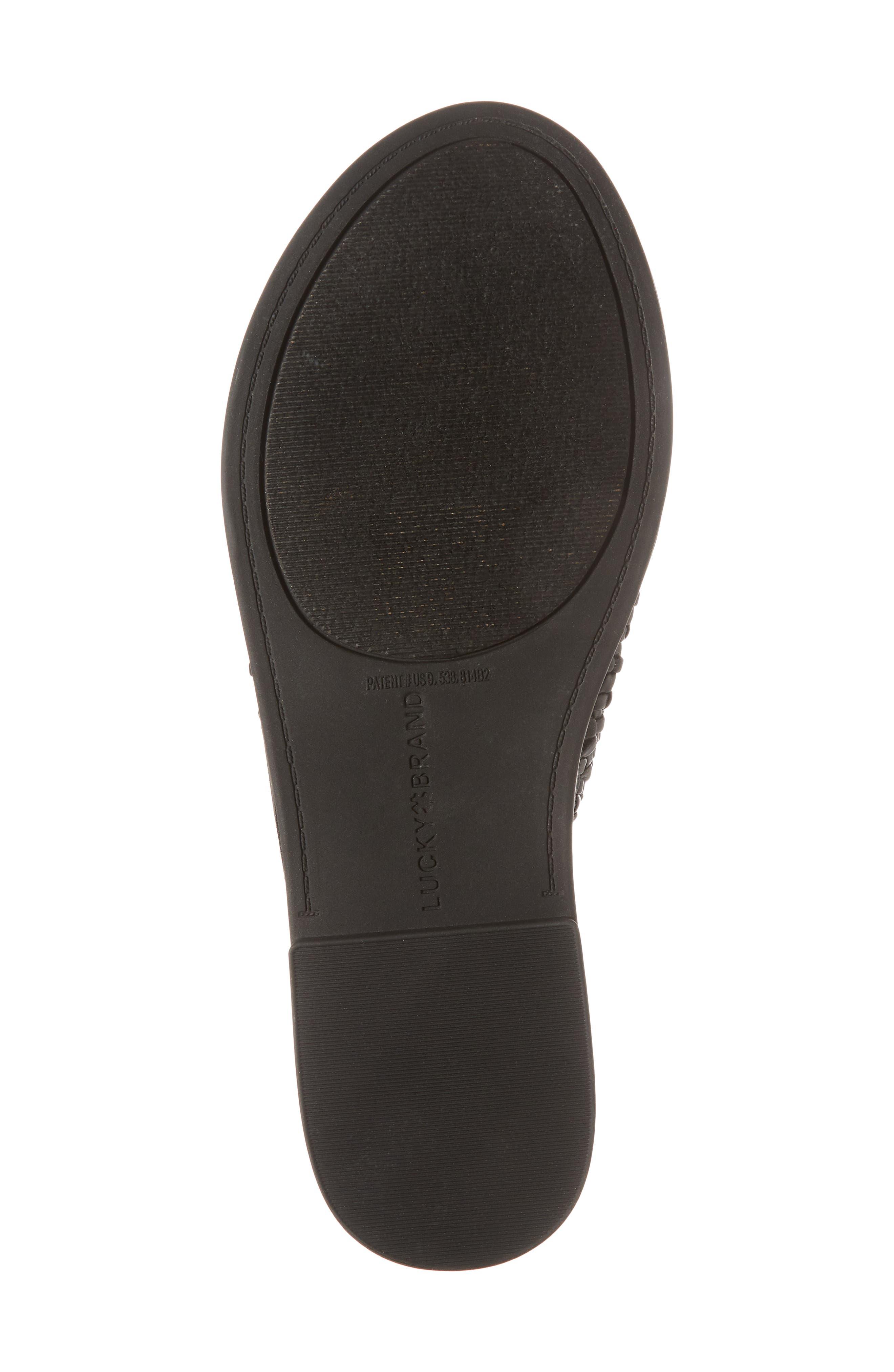 Adola Slide Sandal,                             Alternate thumbnail 6, color,                             Black Leather