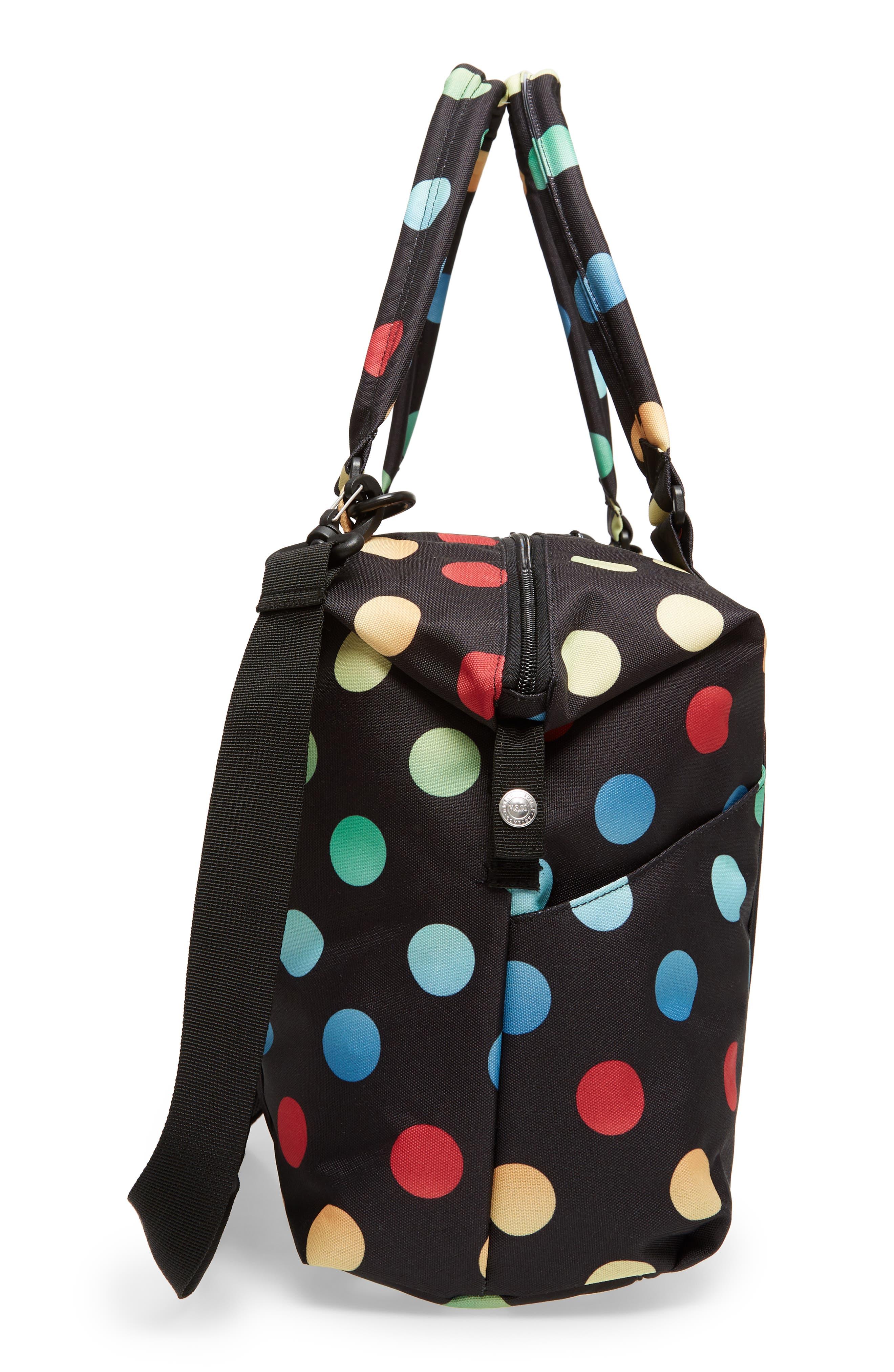 Sprout Diaper Bag,                             Alternate thumbnail 3, color,                             Black Rainbow